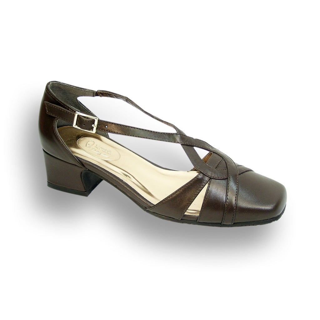 46c79516c49a Shop FIC PEERAGE Alexa Women Wide Width Leather Pump - Free Shipping Today  - Overstock - 15080062