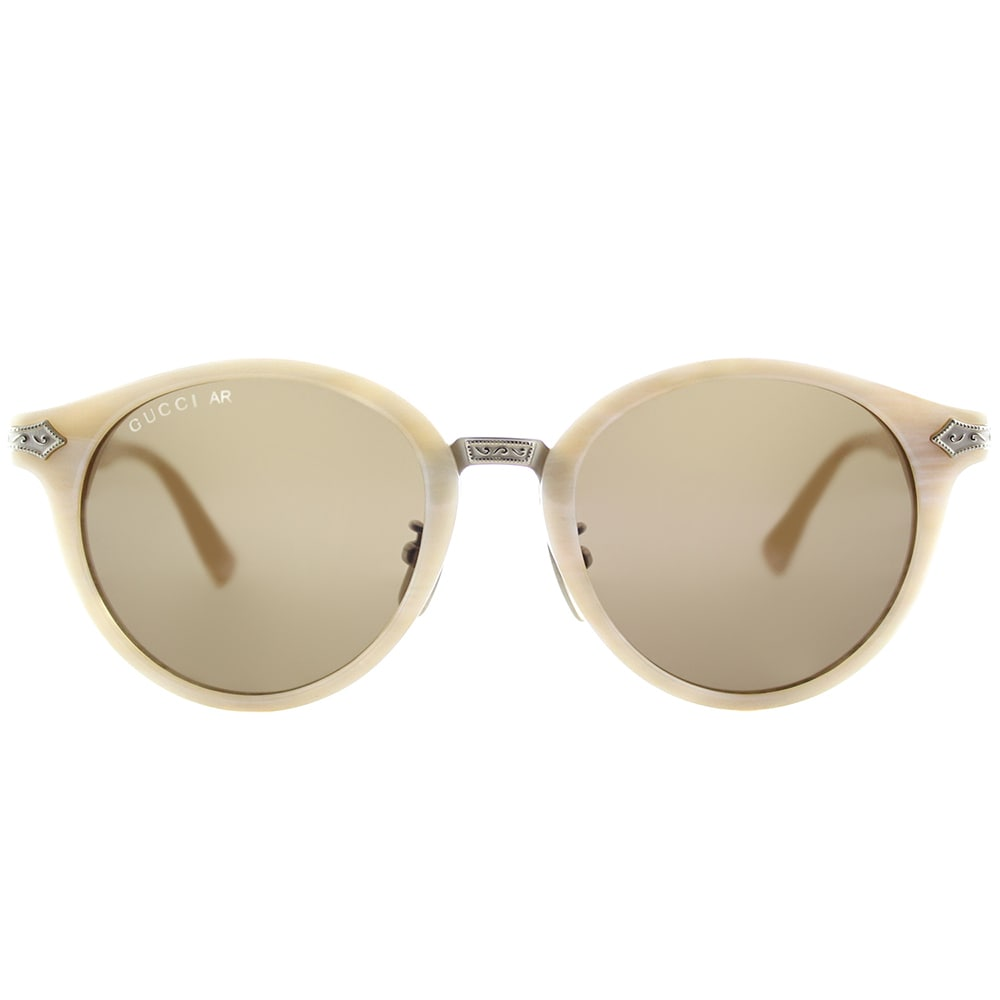 3f334cb2dd4 Shop Gucci GG 0066S 002 White Horn Plastic Round Sunglasses Brown Lens -  Free Shipping Today - Overstock - 15091173