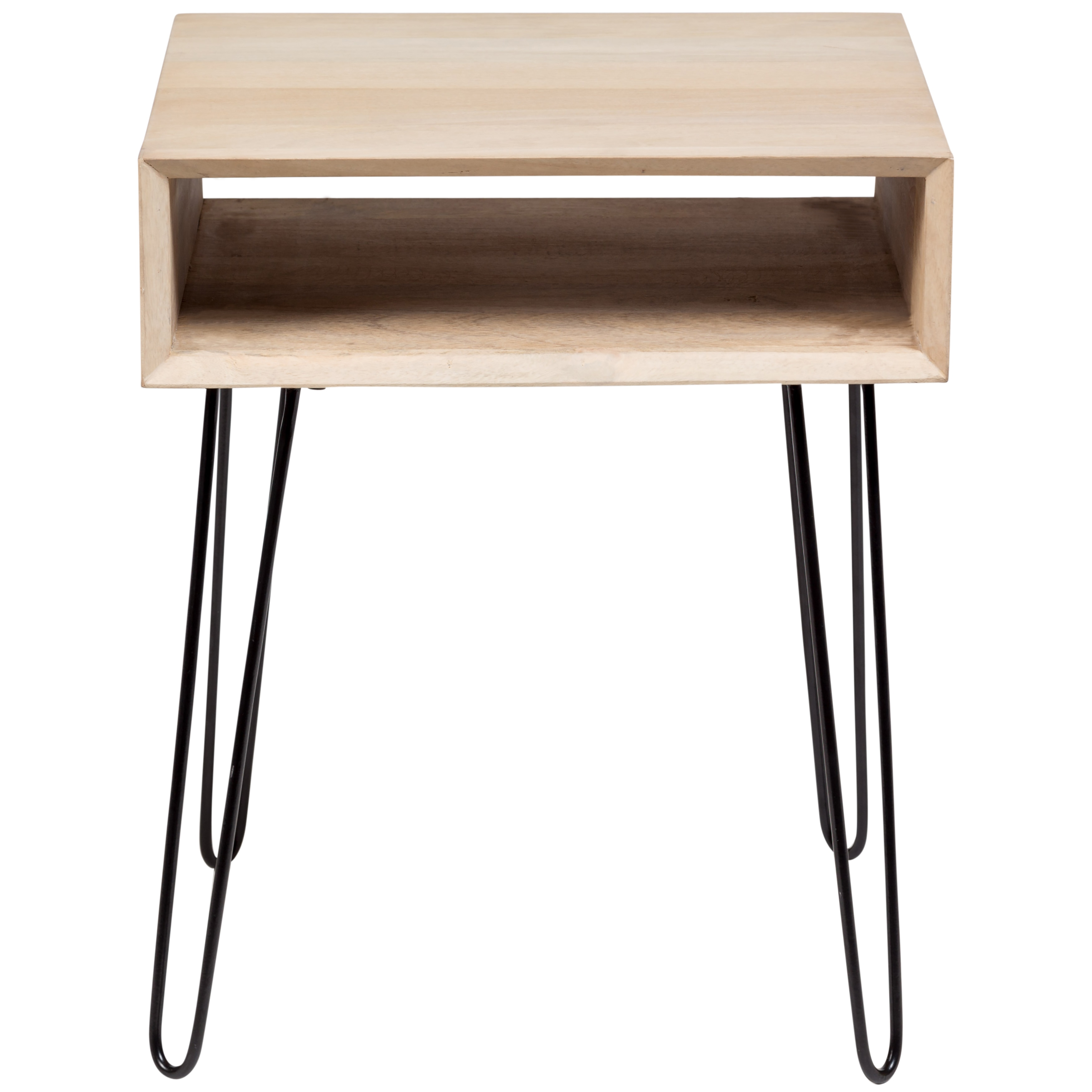 Wanderloot Graphik Mango Wood End Table With Hairpin Legs Free Shipping Today 21580994