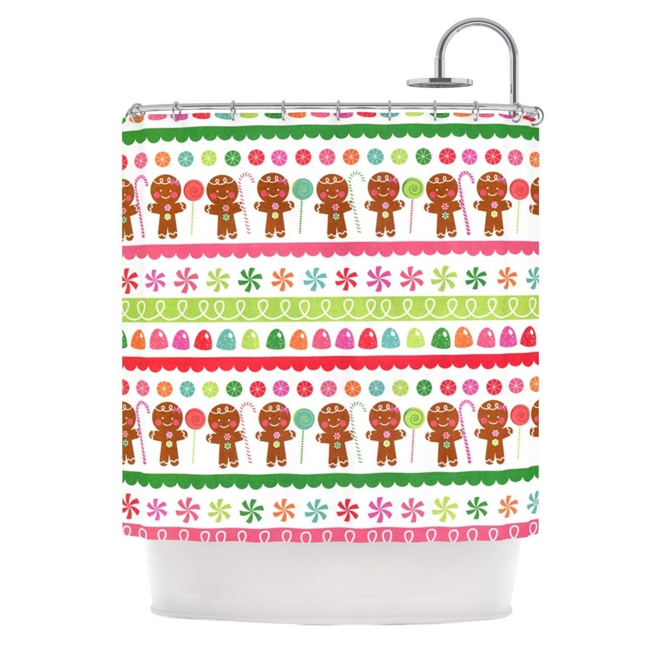 Shop KESS InHouse Heidi Jennings Gumdrop Buttons Gingerbread Shower Curtain 69x70