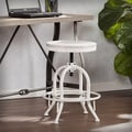 Harper Blvd Wheeler Industrial Adjustable Height Swiveling Stool - White