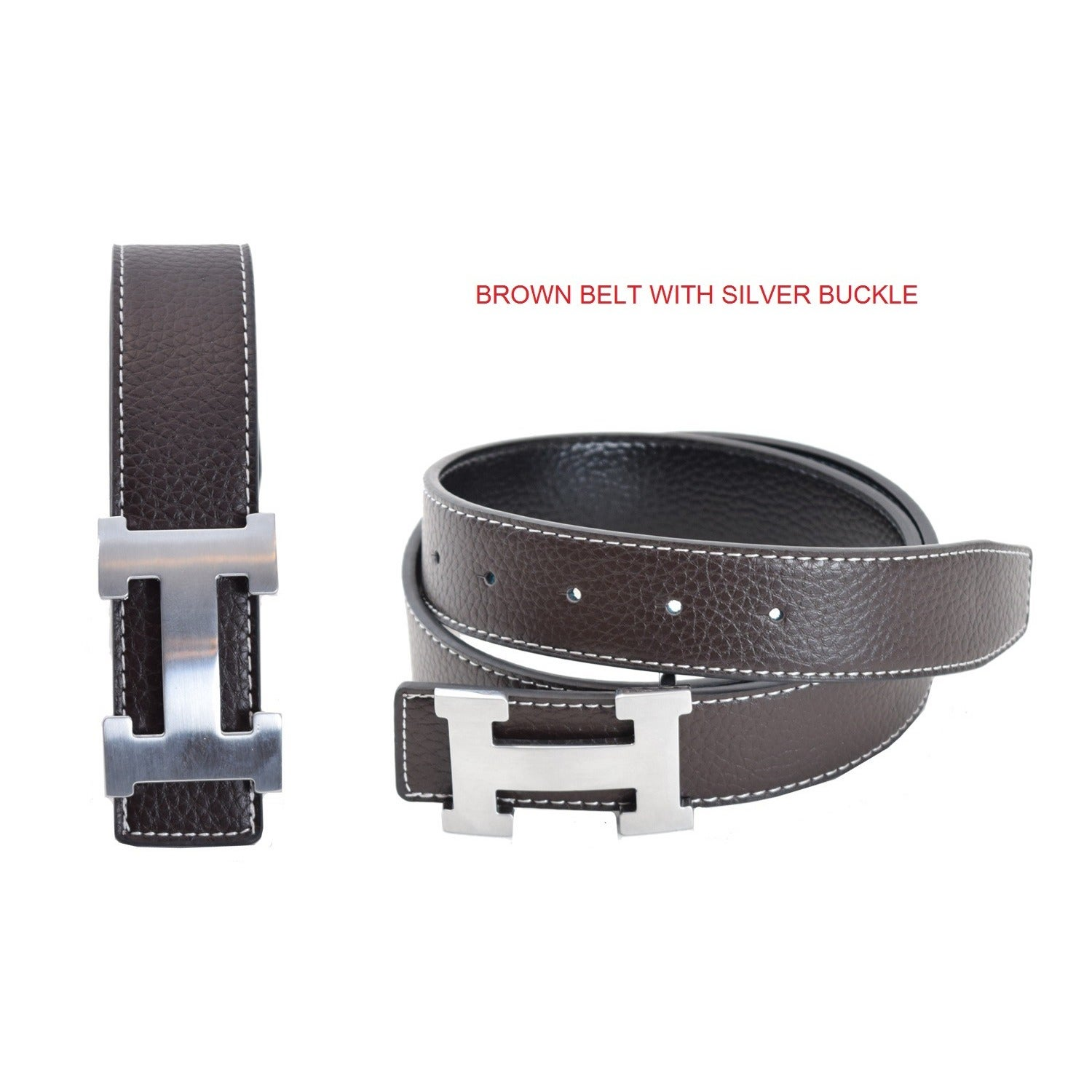 97bfbe330e2 Shop Unisex H-design Reversible Belt with Removable Buckle - On Sale - Free  Shipping On Orders Over  45 - Overstock - 15096364
