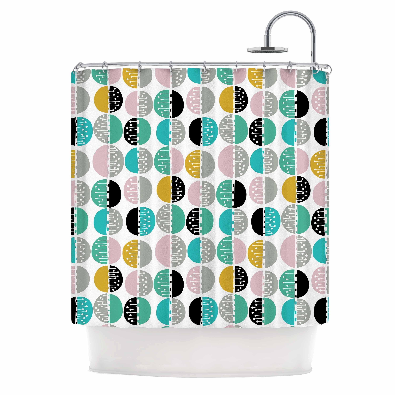 Shop KESS InHouse Jessica Wilde Carnival Stripe Teal Gold Shower Curtain 69x70