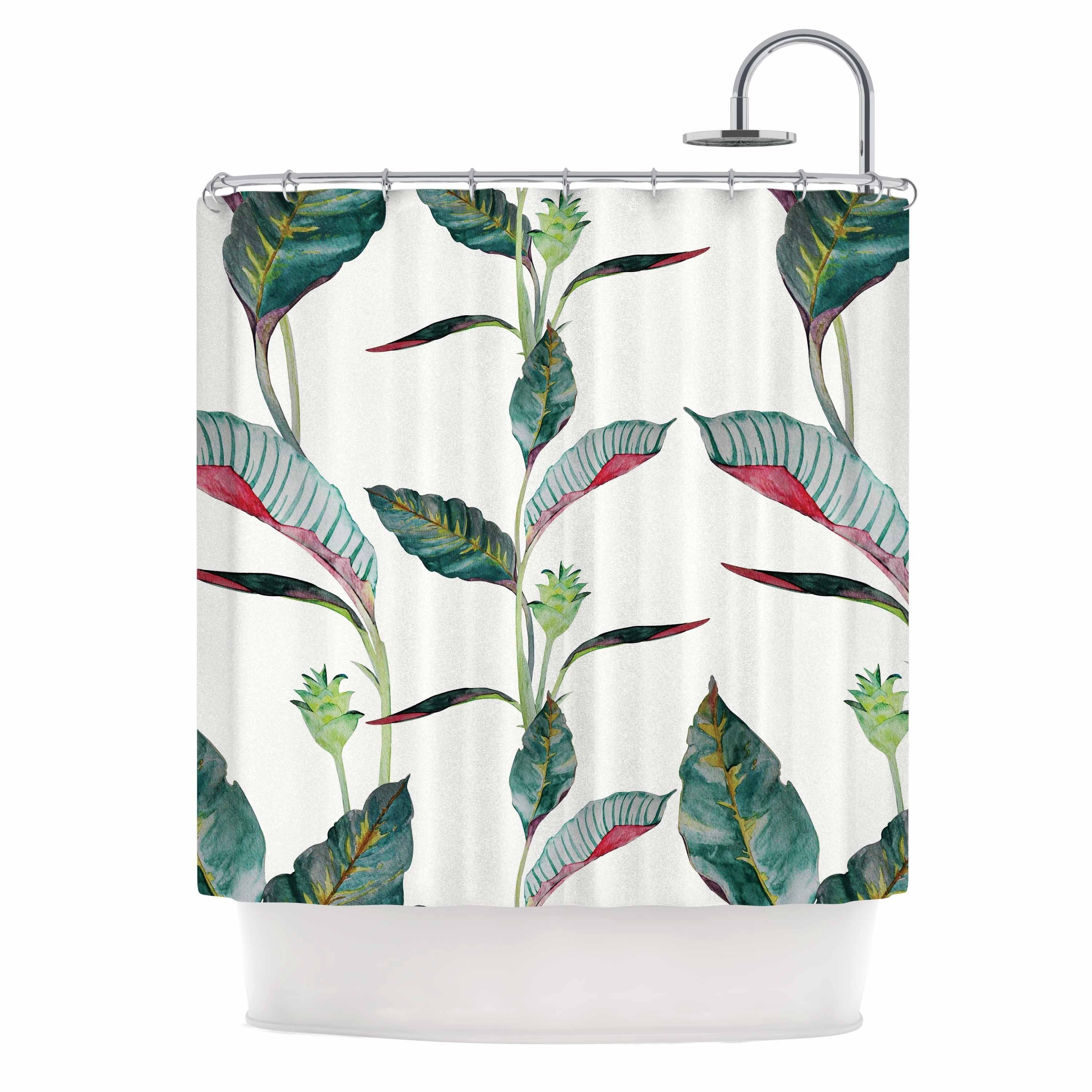 Shop KESS InHouse DLKG Design Ana Black Olive Shower Curtain 69x70
