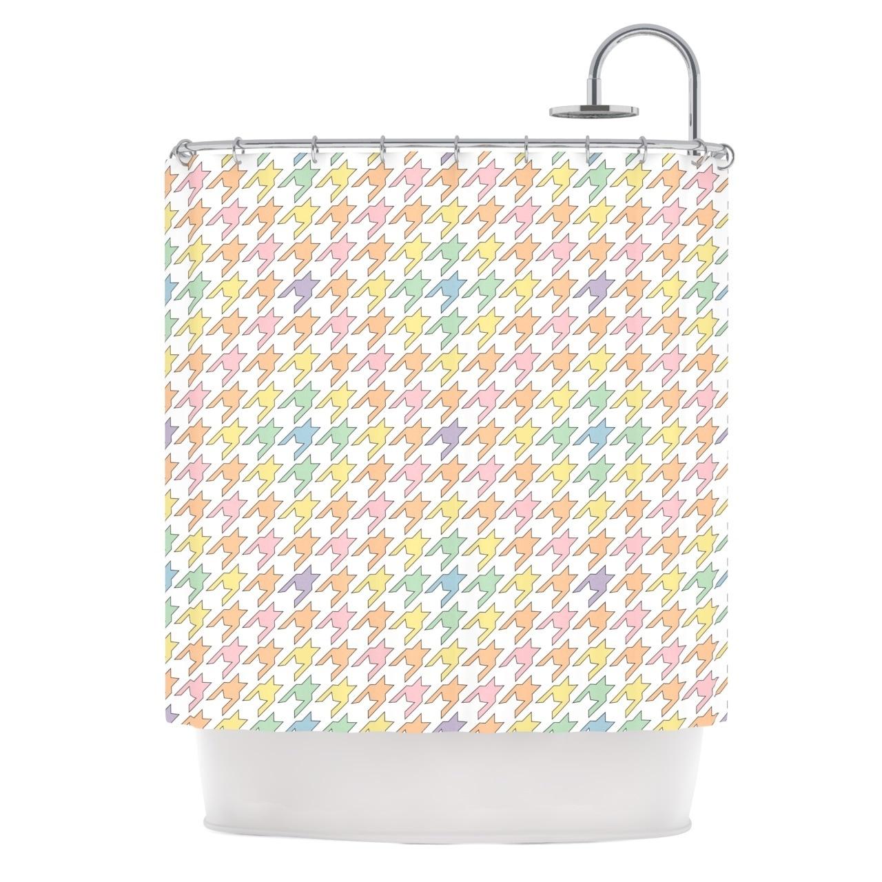 Shop KESS InHouse Empire Ruhl Pastel Houndstooth Shower Curtain 69x70