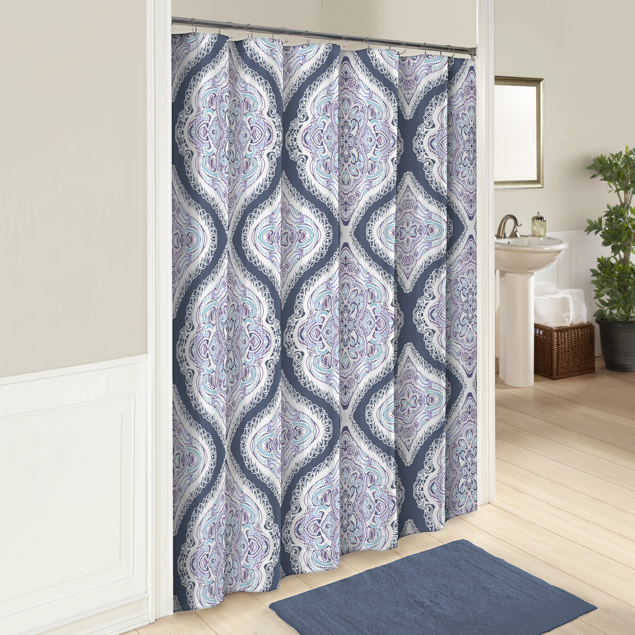 Shop Marble Hill Lotus Shower Curtain