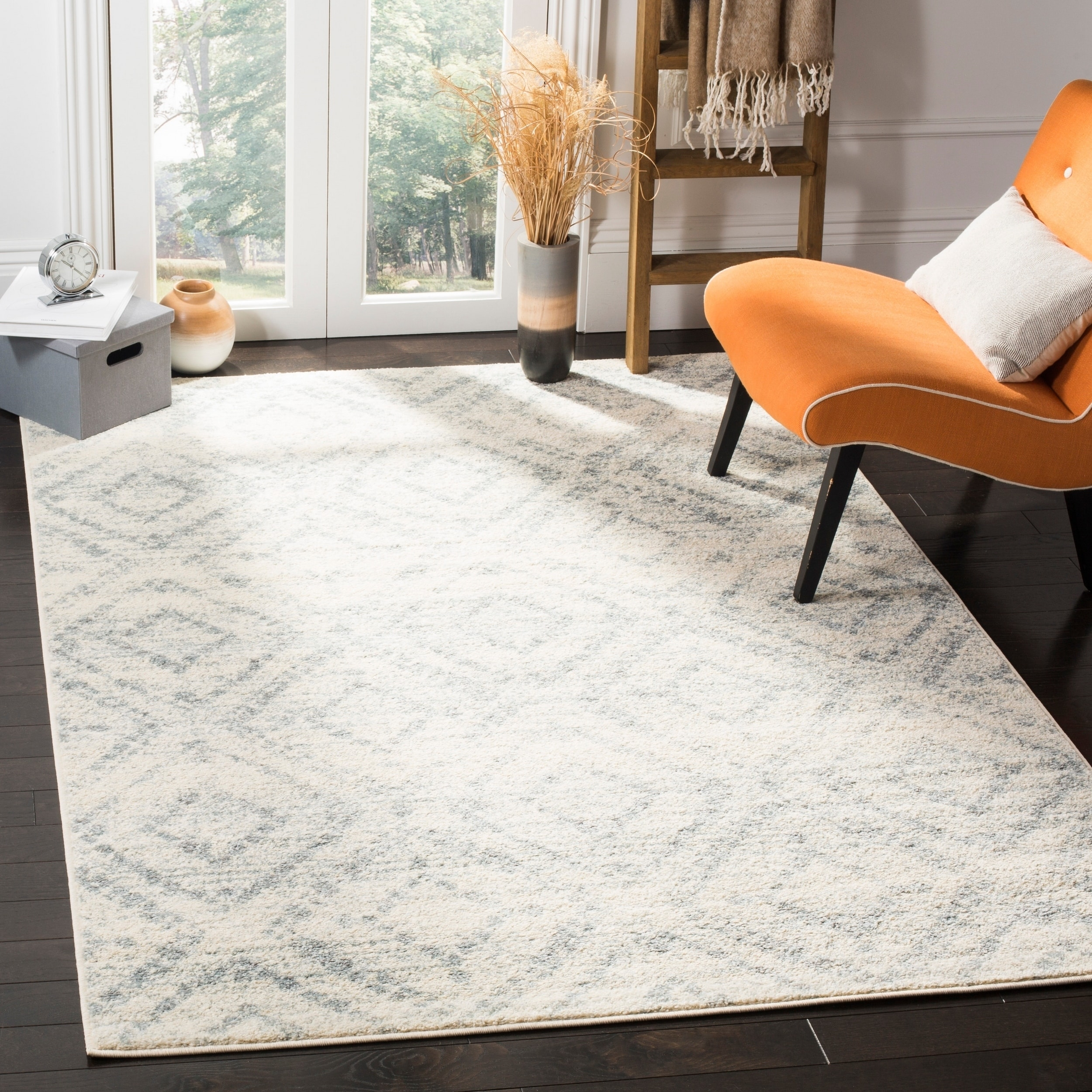 Shop safavieh adirondack vintage ivory blue area rug 6 x 9 on sale free shipping today overstock com 15126669