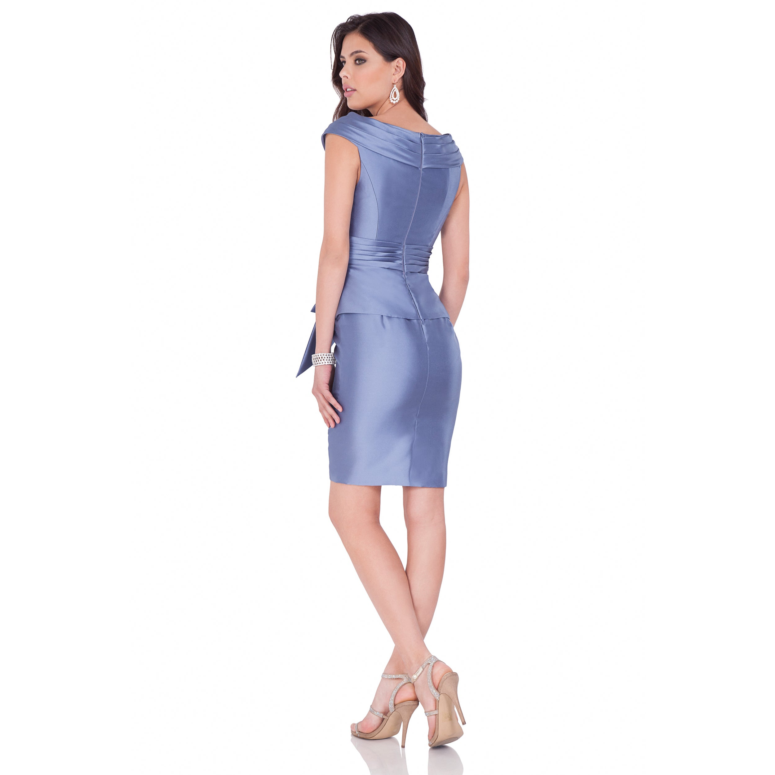 c36491d5d17 Shop Terani Couture Mikado Short Cocktail Dress with Deep-V Neckline - Free  Shipping Today - Overstock - 15126688