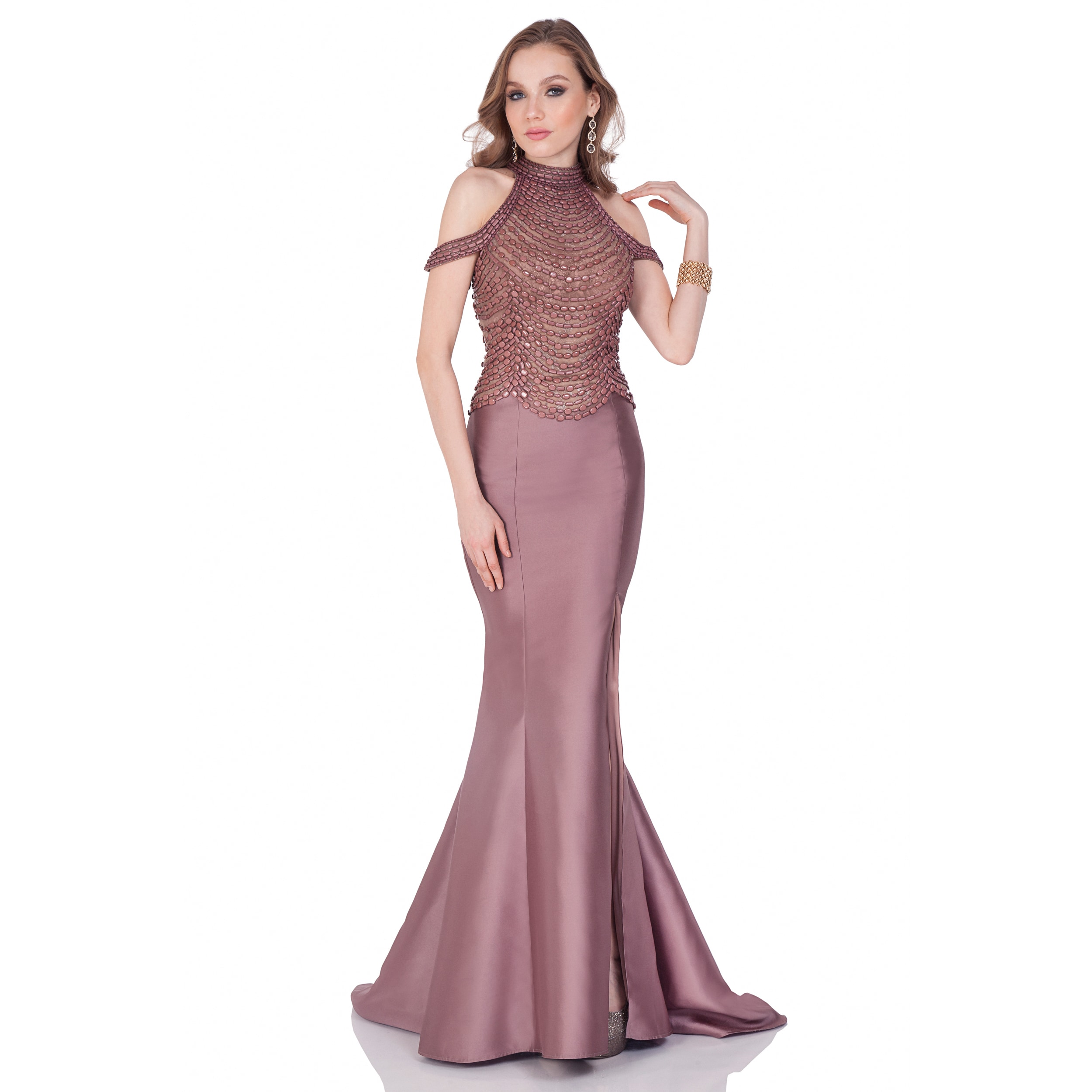 3d82196075e Shop Terani Couture Women s Mikado Floor-length Mother-of-the-bride Dress - Free  Shipping Today - Overstock - 15126712