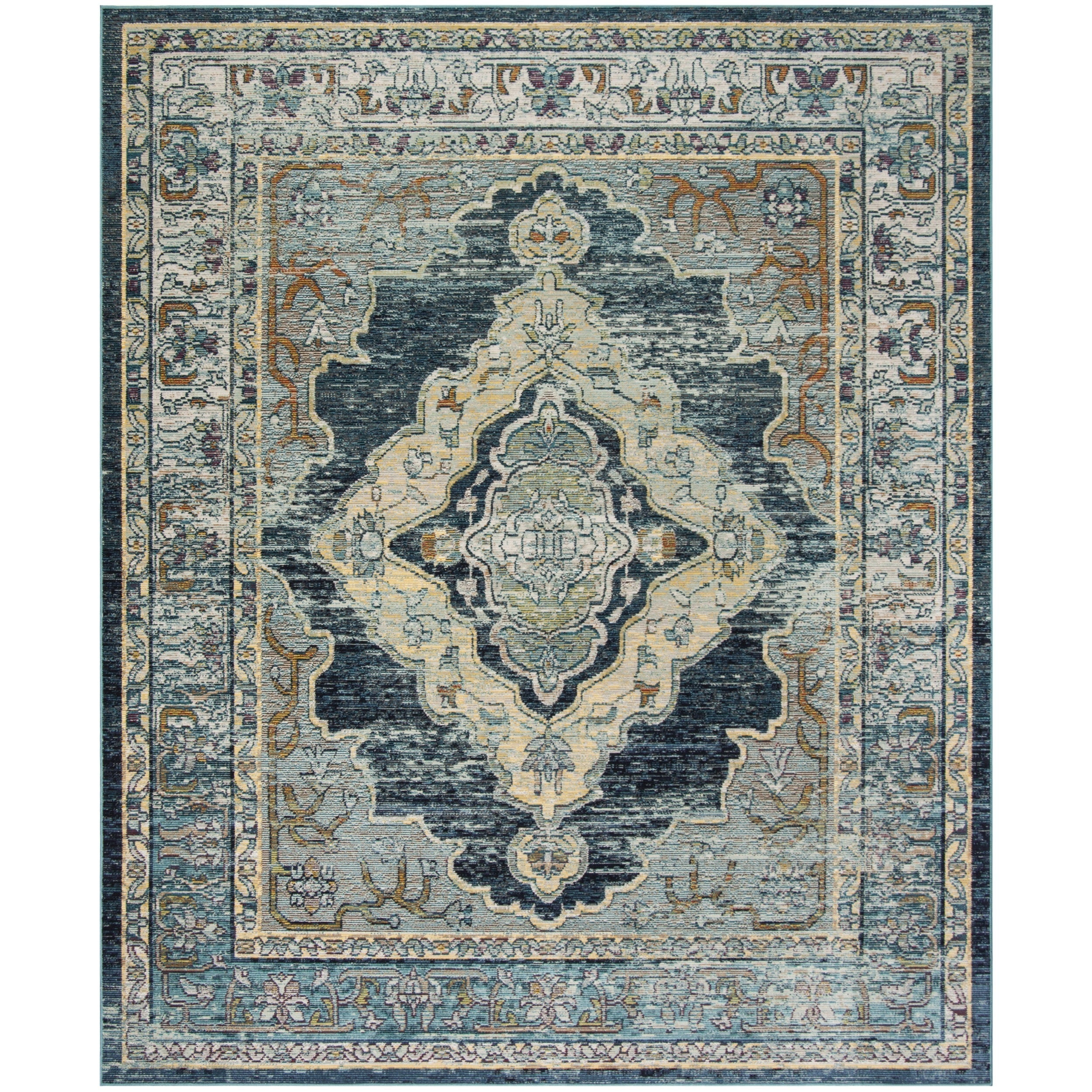 Safavieh Crystal Blue/ Yellow Area Rug (8u0027 X 10u0027)   Free Shipping Today    Overstock.com   21647594