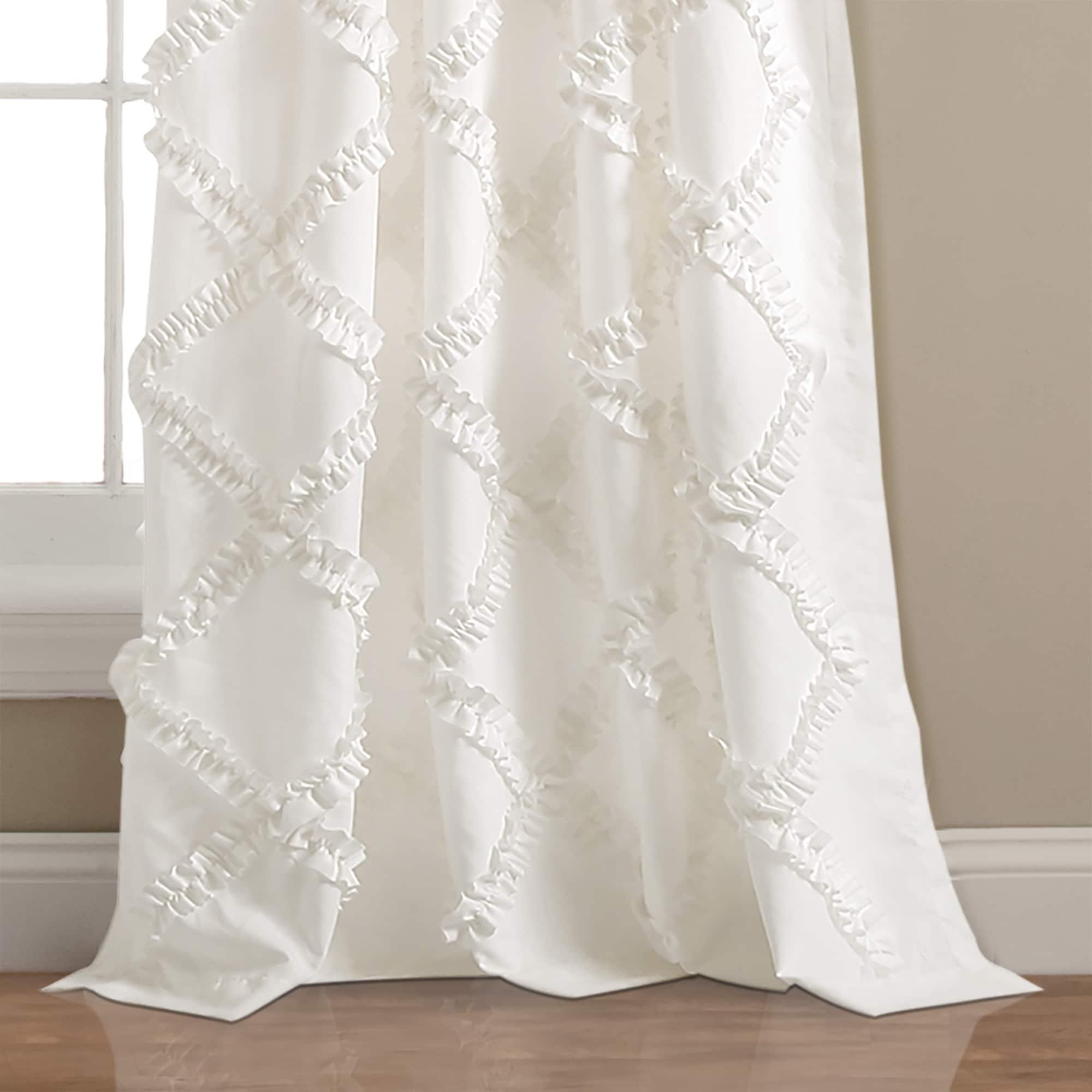 Shop Lush Decor Ruffle Diamond Curtain Panel Pair