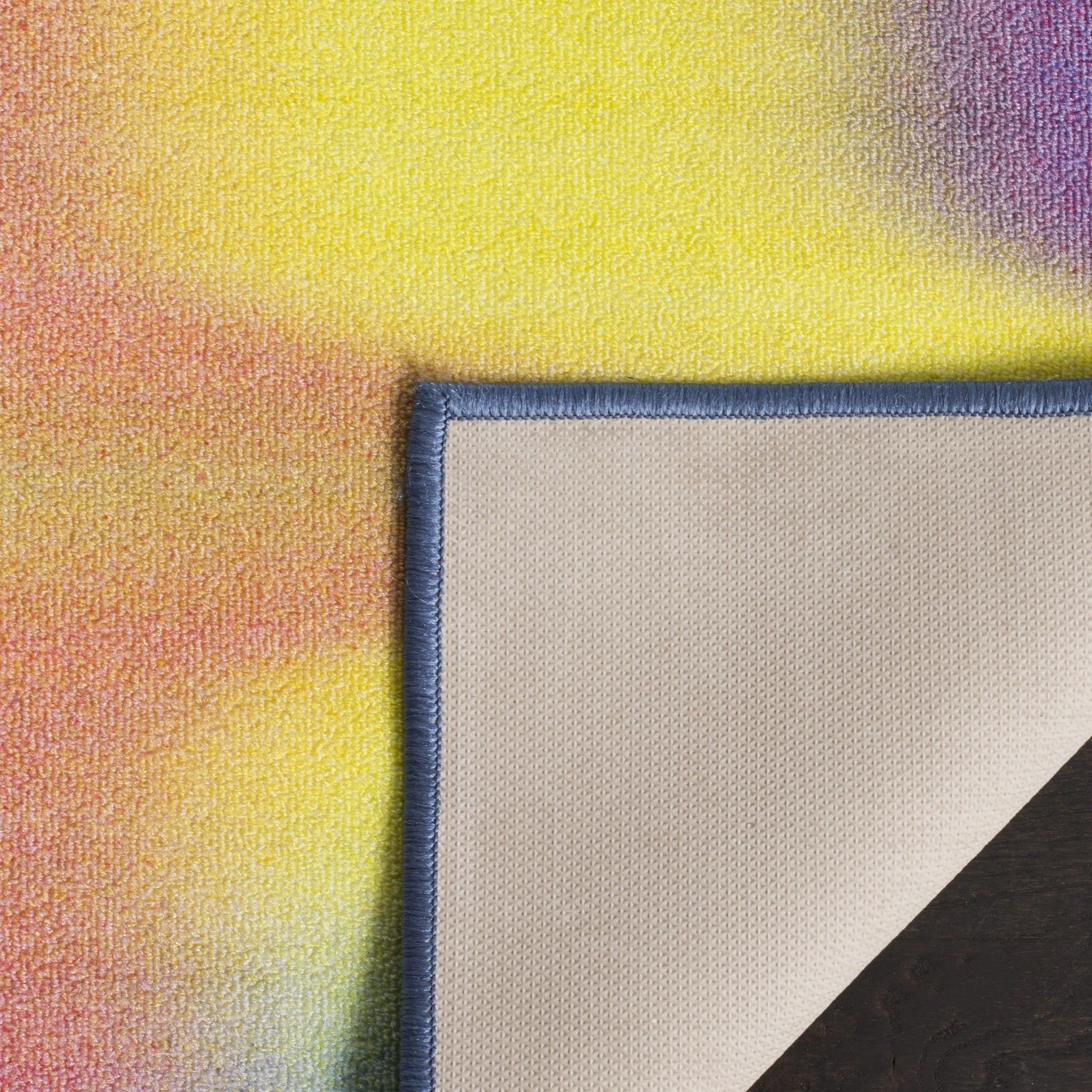 Safavieh Paint Brush Pink Yellow Area Rug  6 7