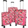 Betty Boop Pink 3-piece Expandable Spinner Luggage Set