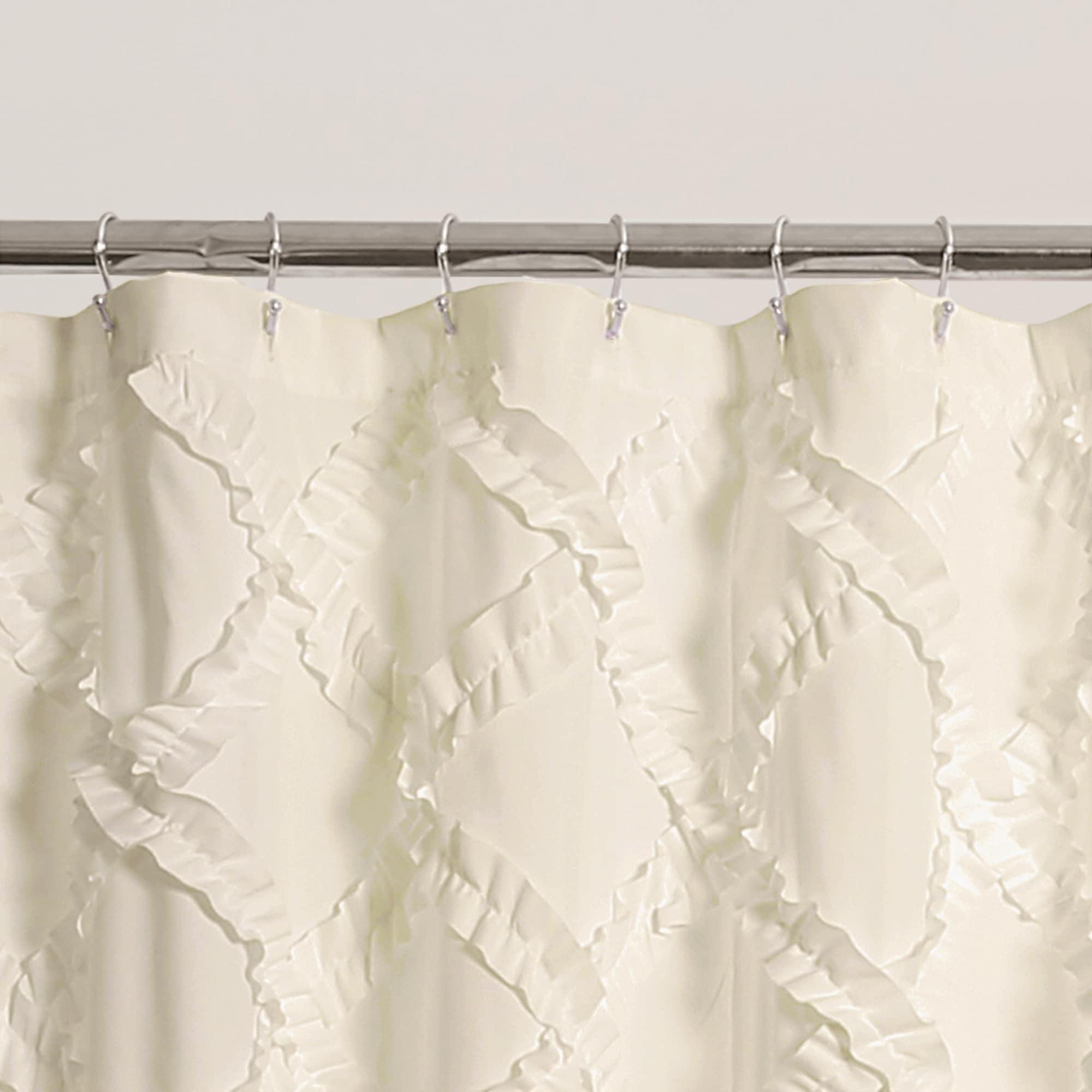 Lush Decor Ruffle Diamond Shower Curtain - Free Shipping Today ...