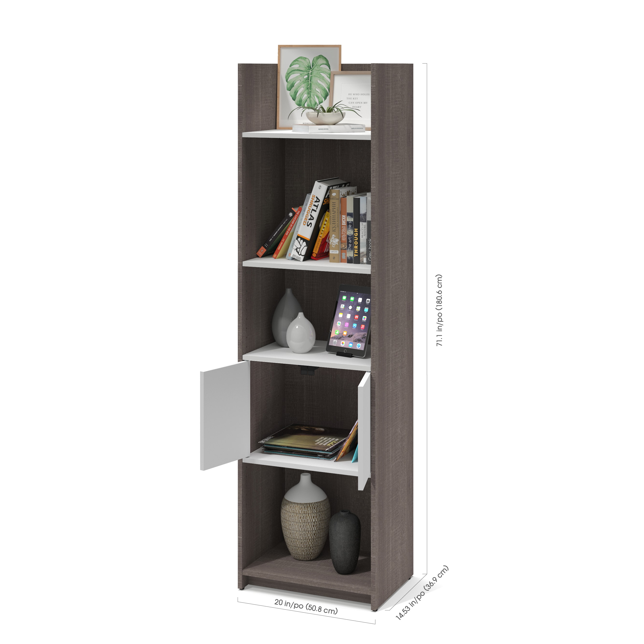 Bestar Small Space Storage Wall Unit Free Shipping Today