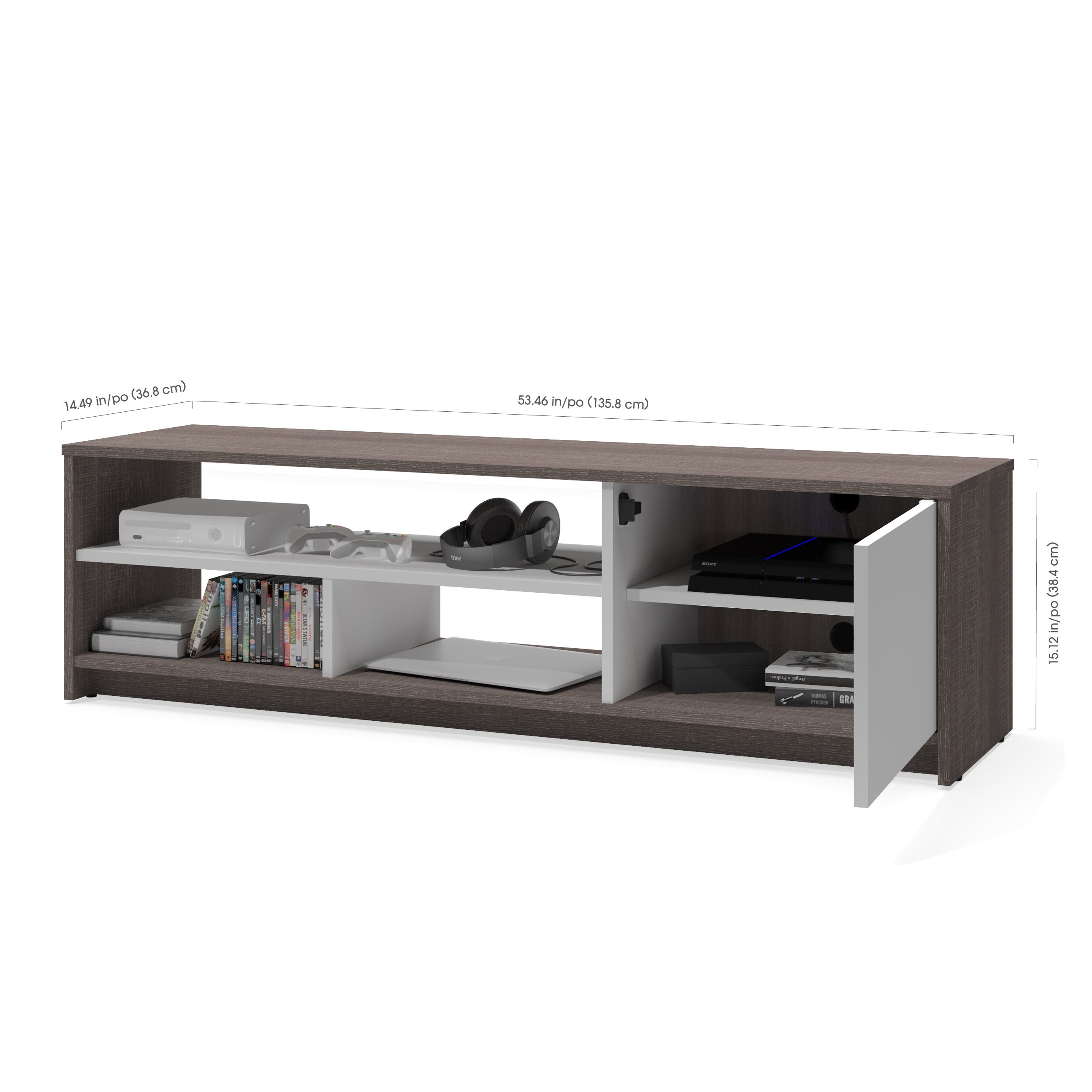 Bestar Small E 2 Piece Storage Coffee Table And Tv Stand Set Free Shipping Today 15209619
