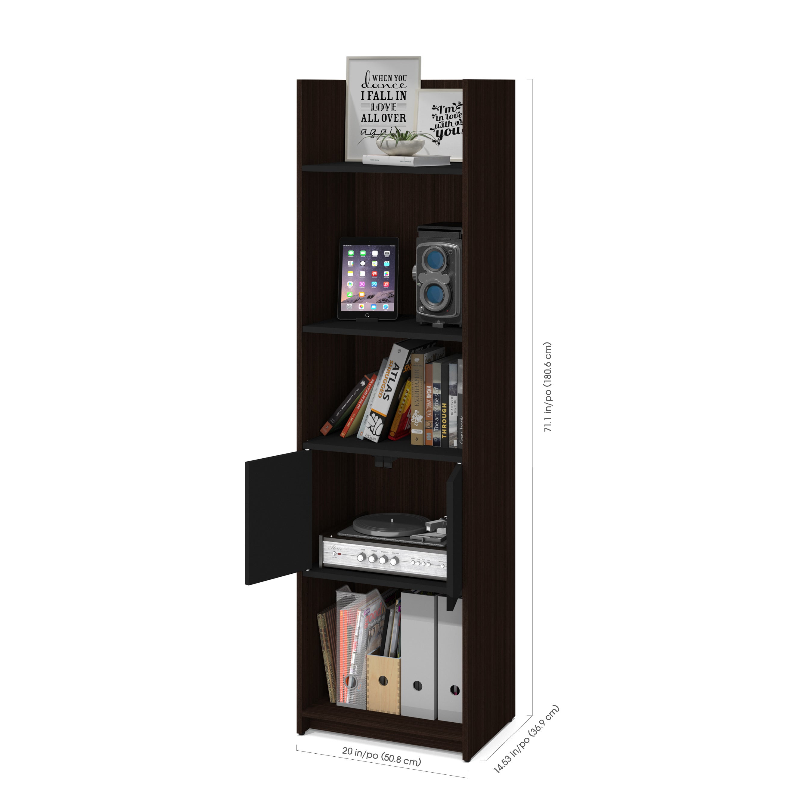 Shop Bestar Small Space 20 Inch Storage Tower   Free Shipping Today    Overstock.com   15209967