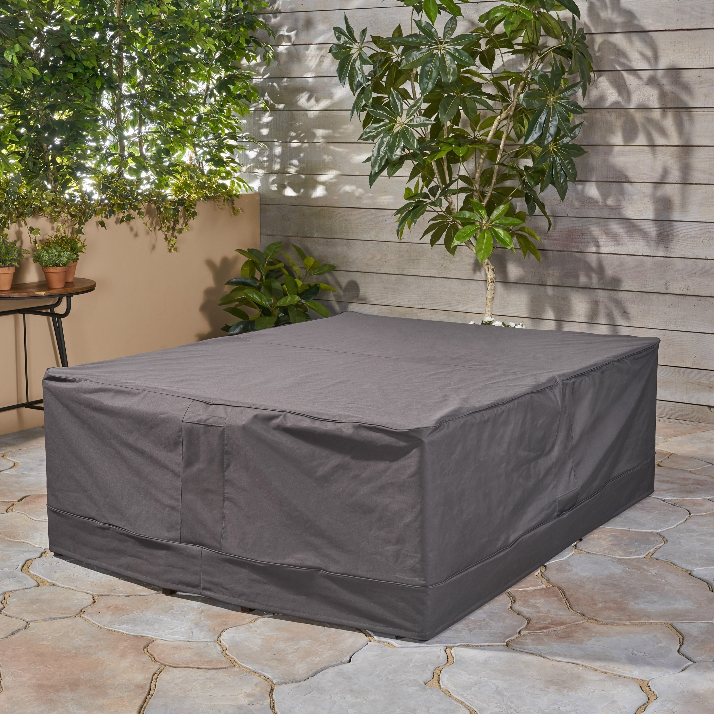 Shop Shield Outdoor Waterproof Fabric Chat Set Patio Cover In Natural By  Christopher Knight Home   On Sale   Free Shipping Today   Overstock.com    15211973