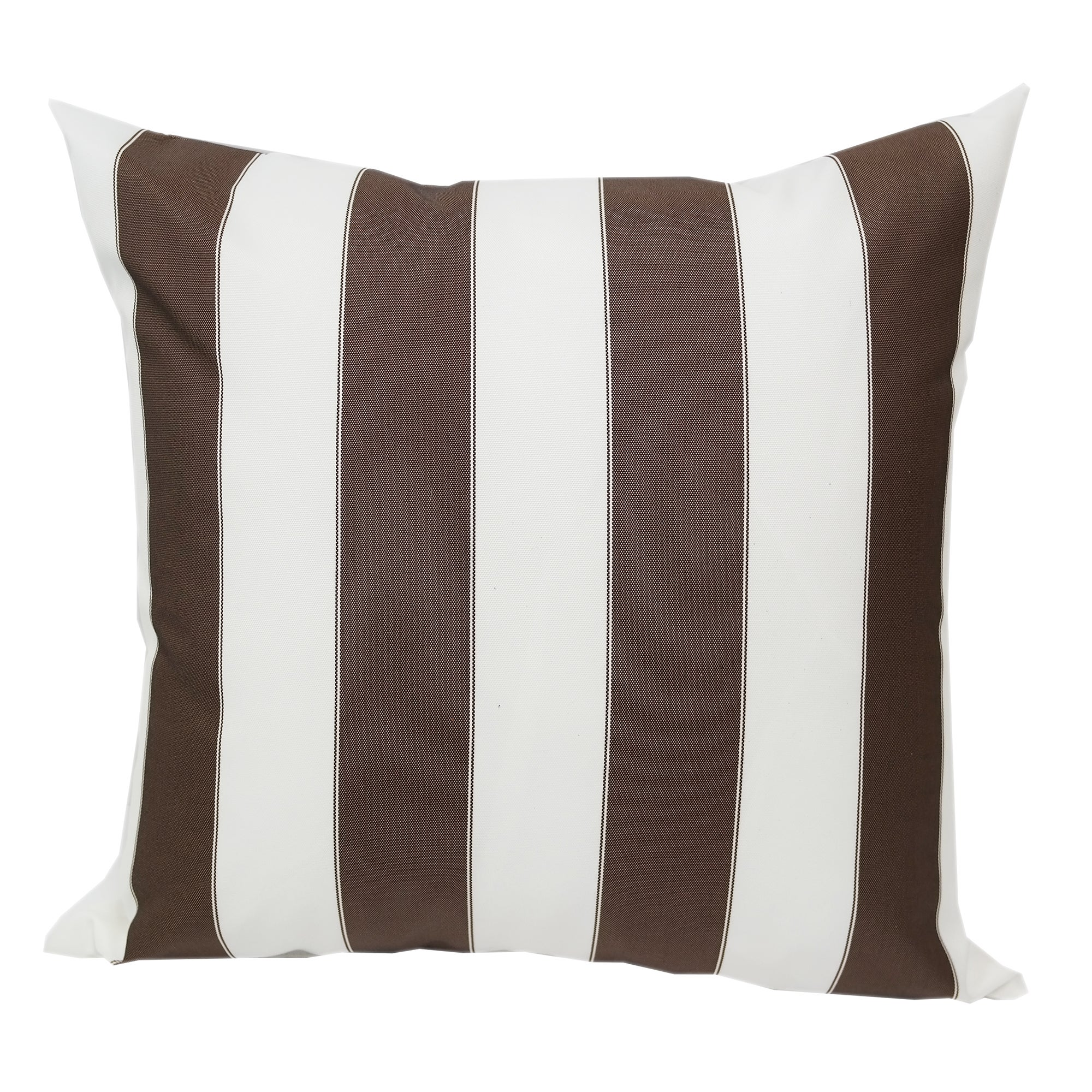 Shop Blue And White Striped Outdoor Throw Pillow From Home Accent