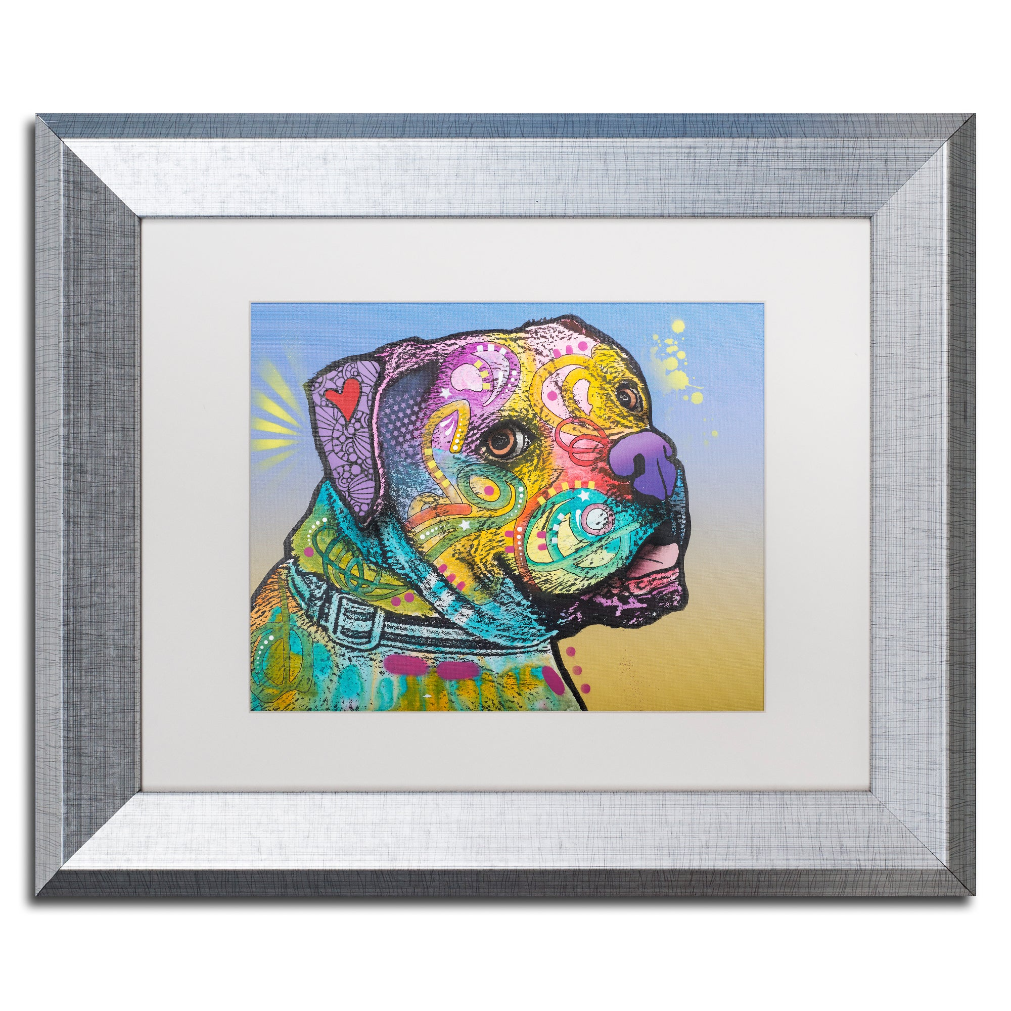 Shop Dean Russo 'Deuce-007' Matted Framed Art - On Sale - Free Shipping  Today - Overstock.com - 15220718