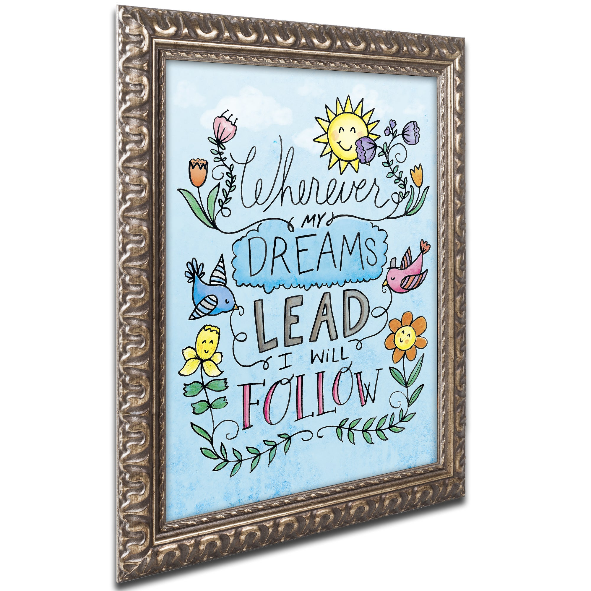 Shop Elizabeth Caldwell \'Dreams Lead\' Ornate Framed Art - On Sale ...