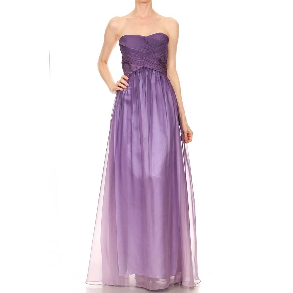 Shop DFI Women\'s Strapless Ombre Prom Dress - On Sale - Free ...