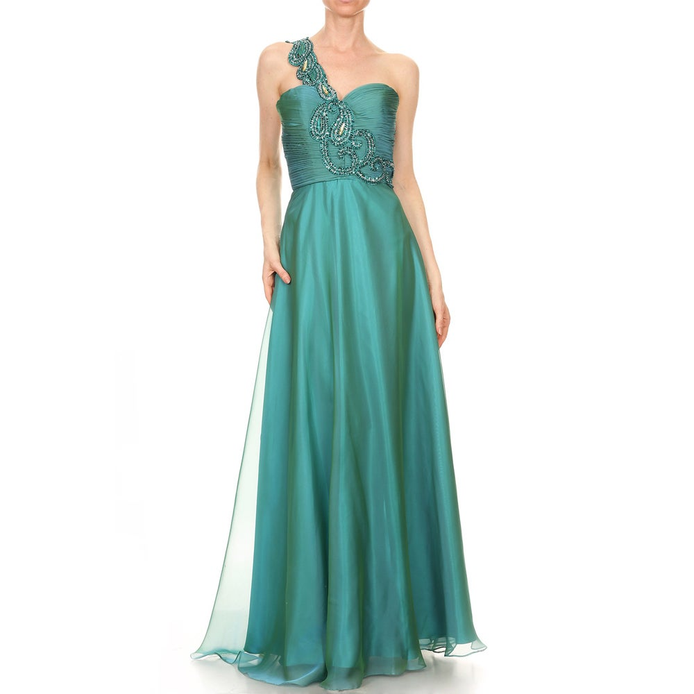 DFI Women\'s One Shoulder Prom Dress - Free Shipping Today ...