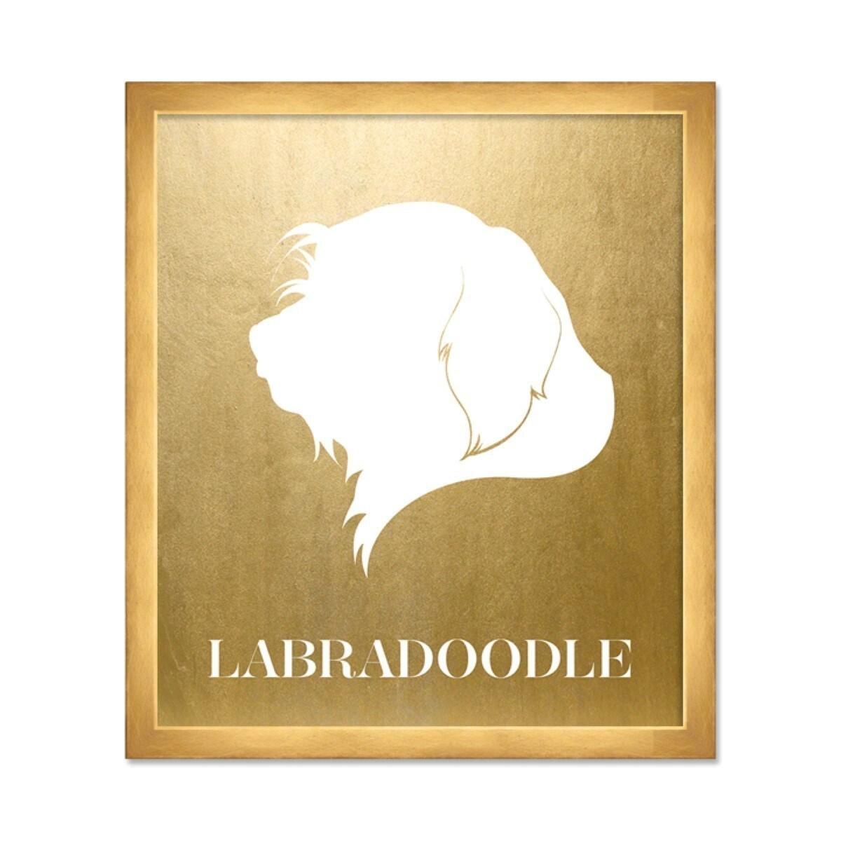 OliverGal \'Labradoodle Inverted\' Metallic Art - Multi - Free ...