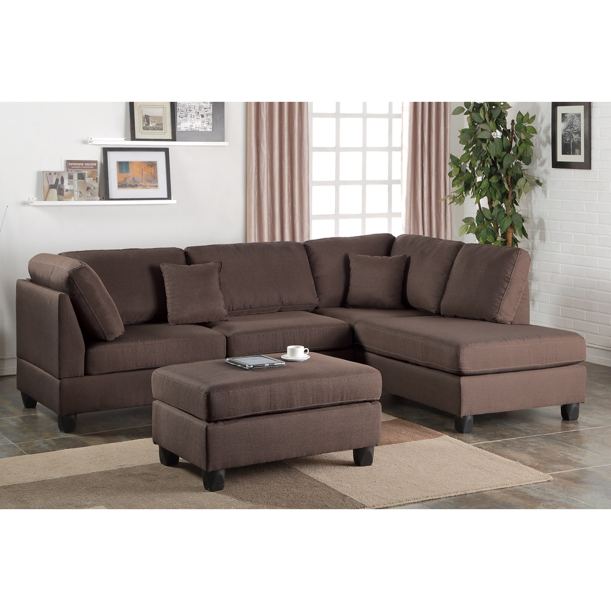 sectional wayfair galiana reviews furniture pdx bobkona poundex