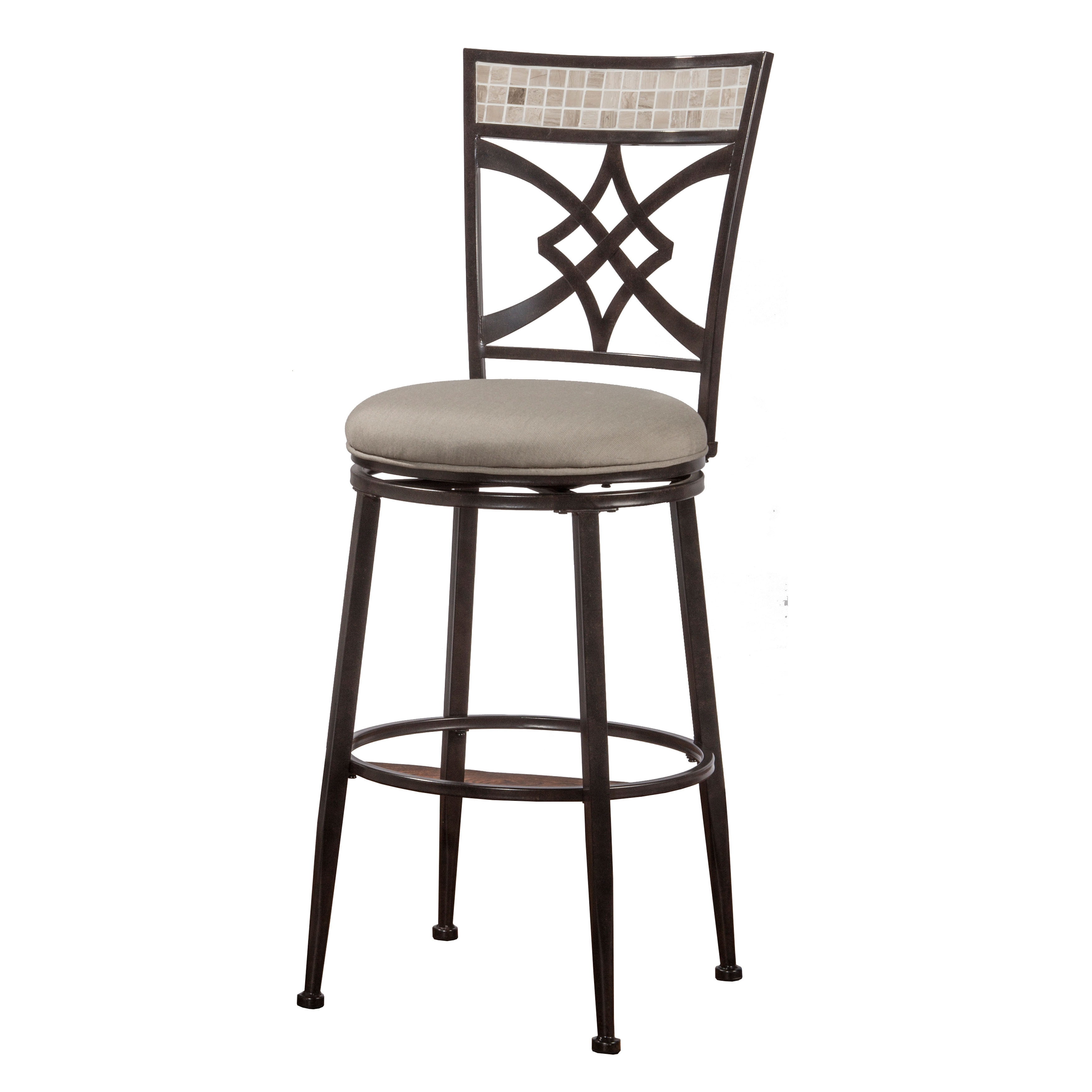Hilale Furniture Halstead Indoor Outdoor Swivel Counter Stool In Midnight Mocha Finish Free Shipping Today 15268965