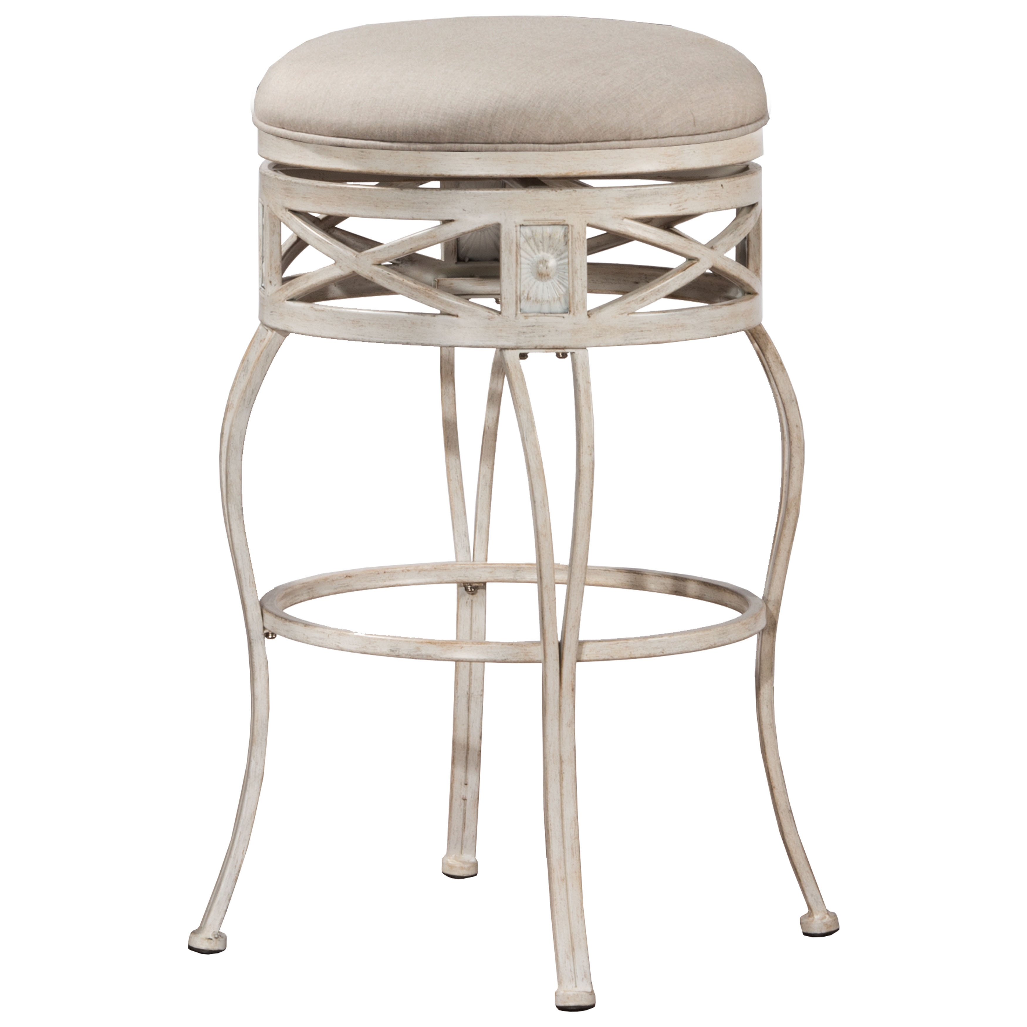 Hilale Furniture Callen Indoor Outdoor Swivel Counter Stool In Whitewash Finish Free Shipping Today 15268994