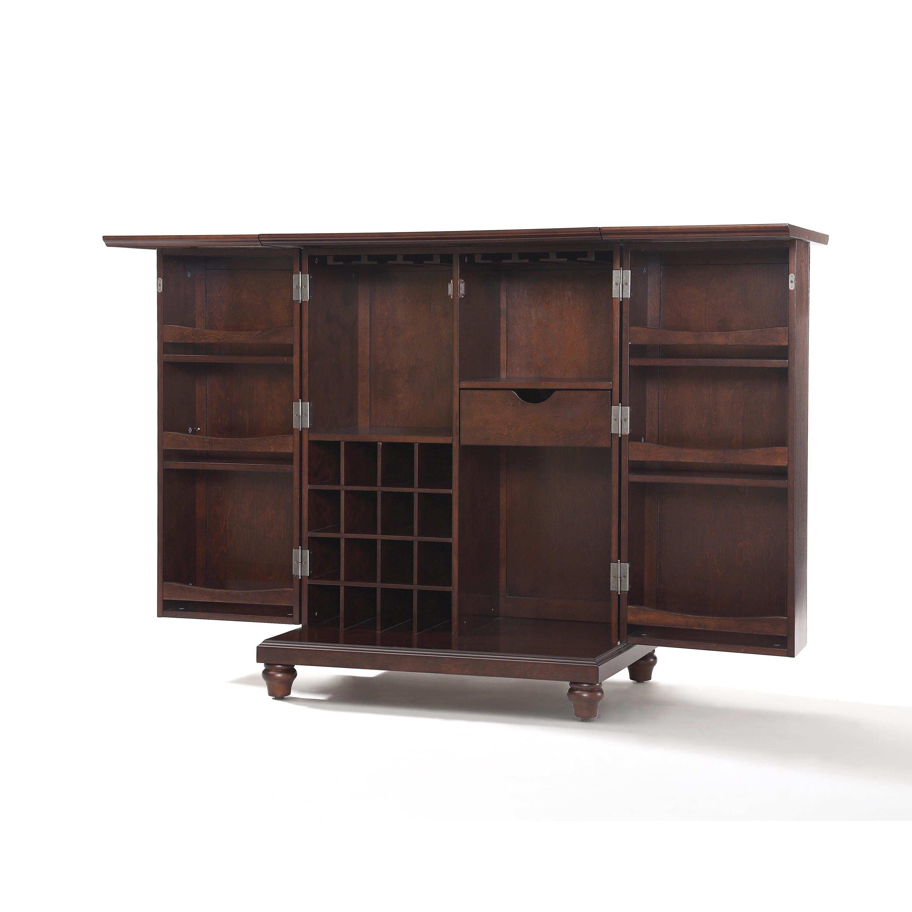 Ordinaire Shop Crosley Furniture Cambridge Brown Wood Expandable Bar Cabinet   Free  Shipping Today   Overstock.com   15269155