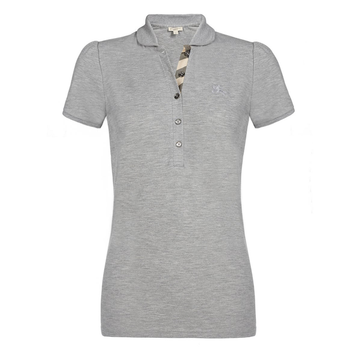 3cdc83f9 Shop Burberry Women's Grey Cotton Melange Polo Shirt - Free Shipping Today  - Overstock - 15274135