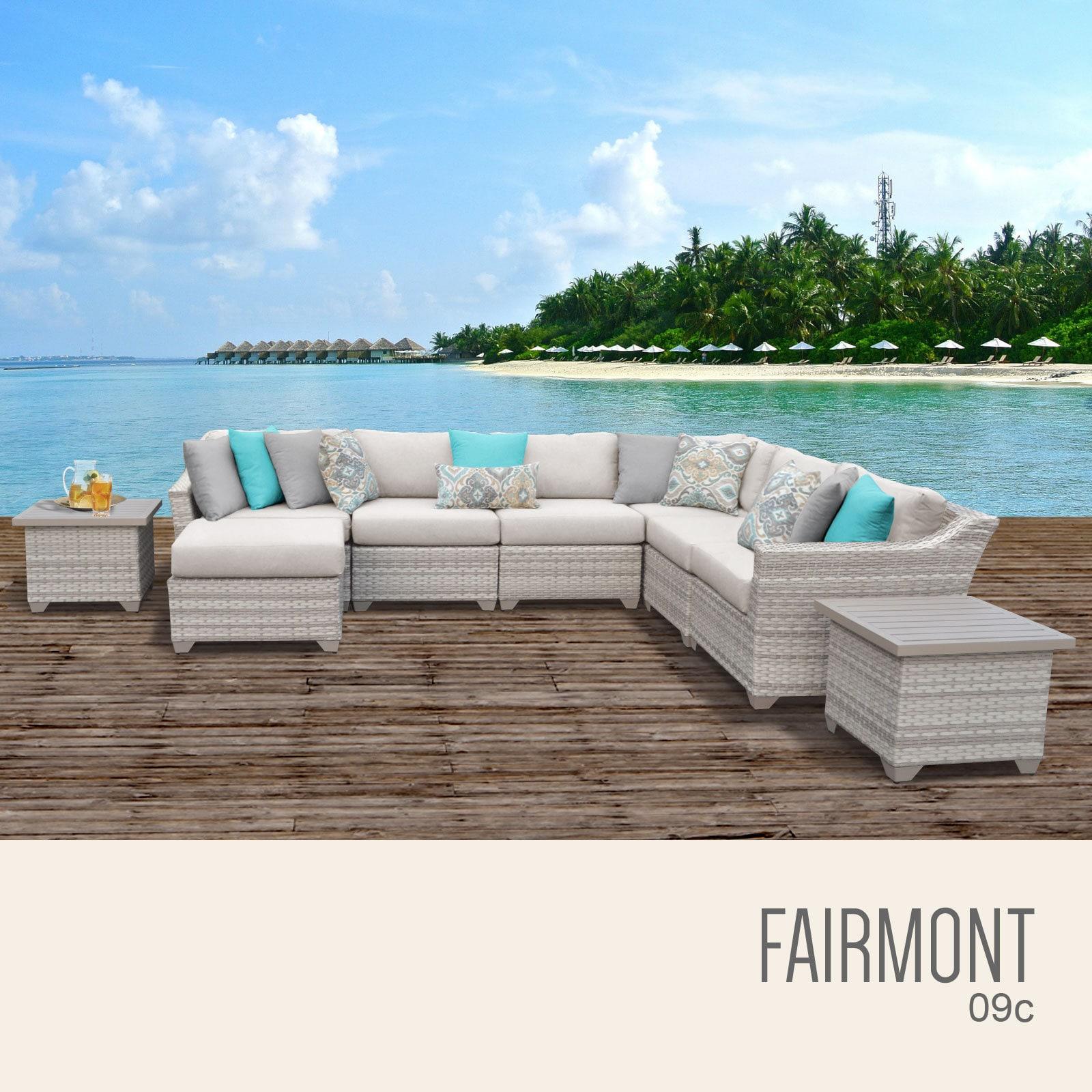 Fairmont 9 Piece Outdoor Wicker Patio Furniture Set 09c