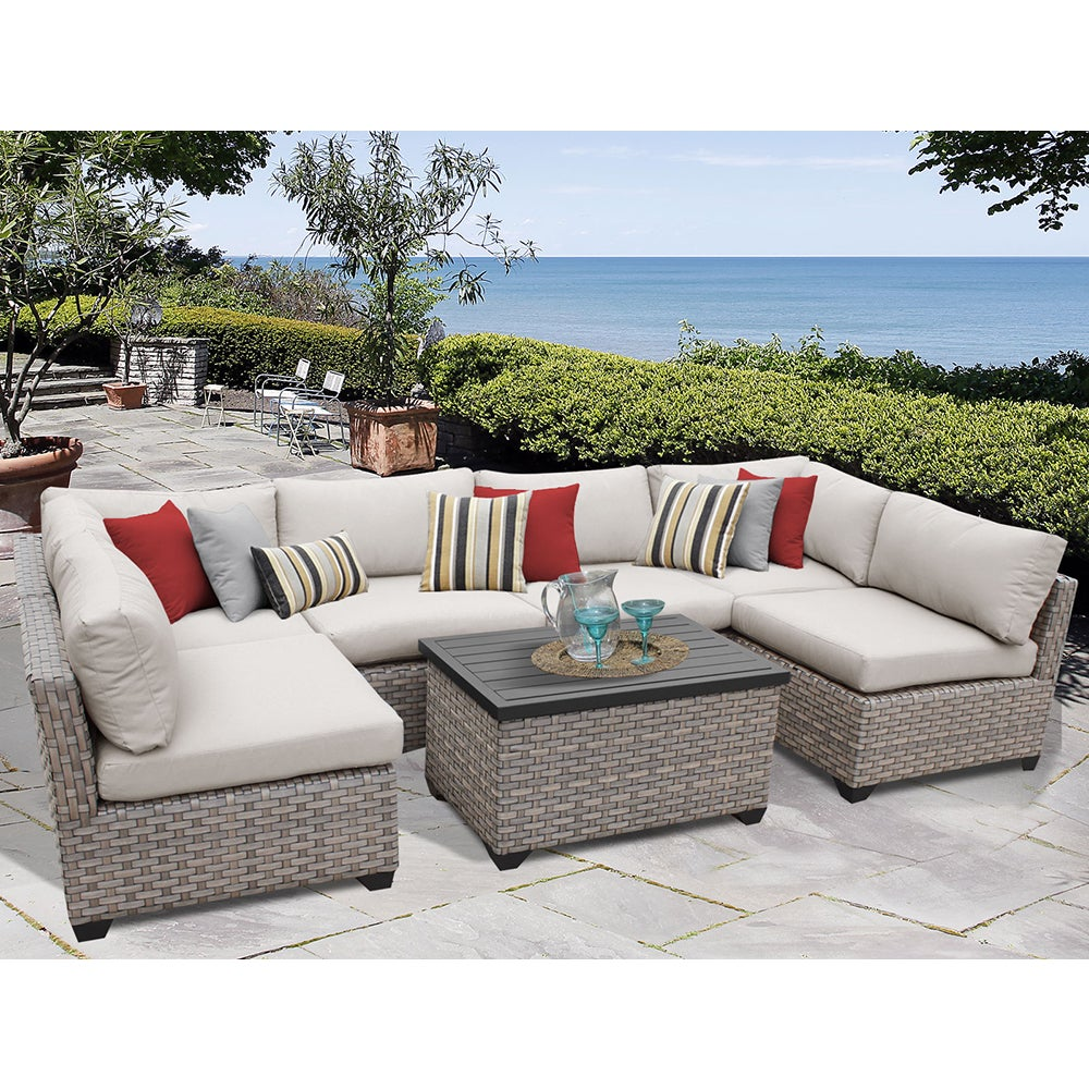 Monterey 7 Piece Outdoor Wicker Patio Furniture Set 07a