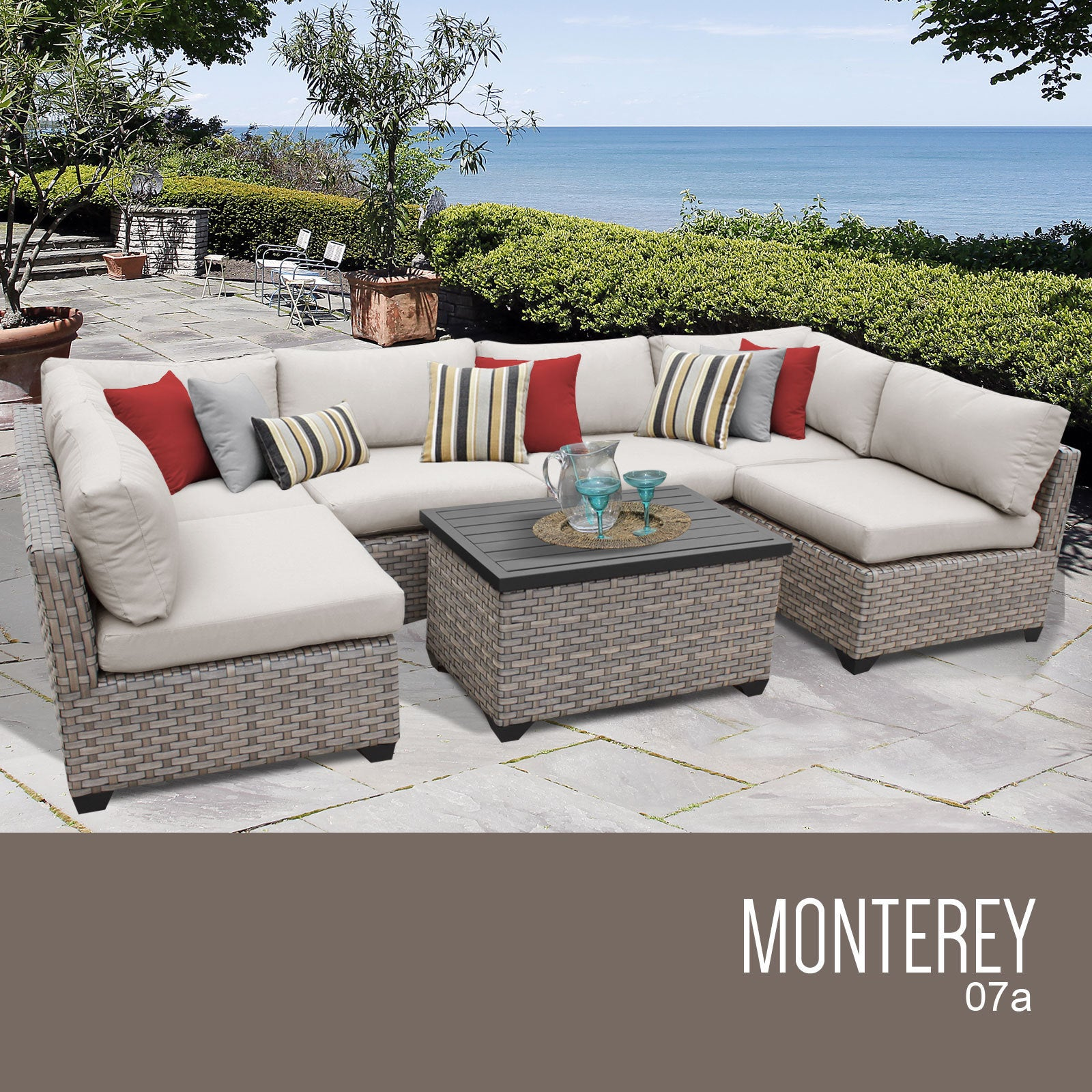 outdoor furniture wicker black sofa com set choice garden products patio amazon rattan sectional dp best