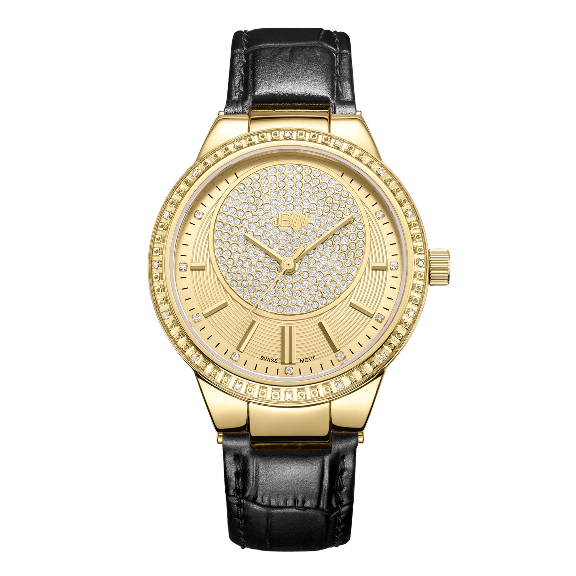 dbc59e3a2cdd Shop JBW Women s Camille Genuine Leather Diamond Watch - Free Shipping  Today - Overstock - 15275614