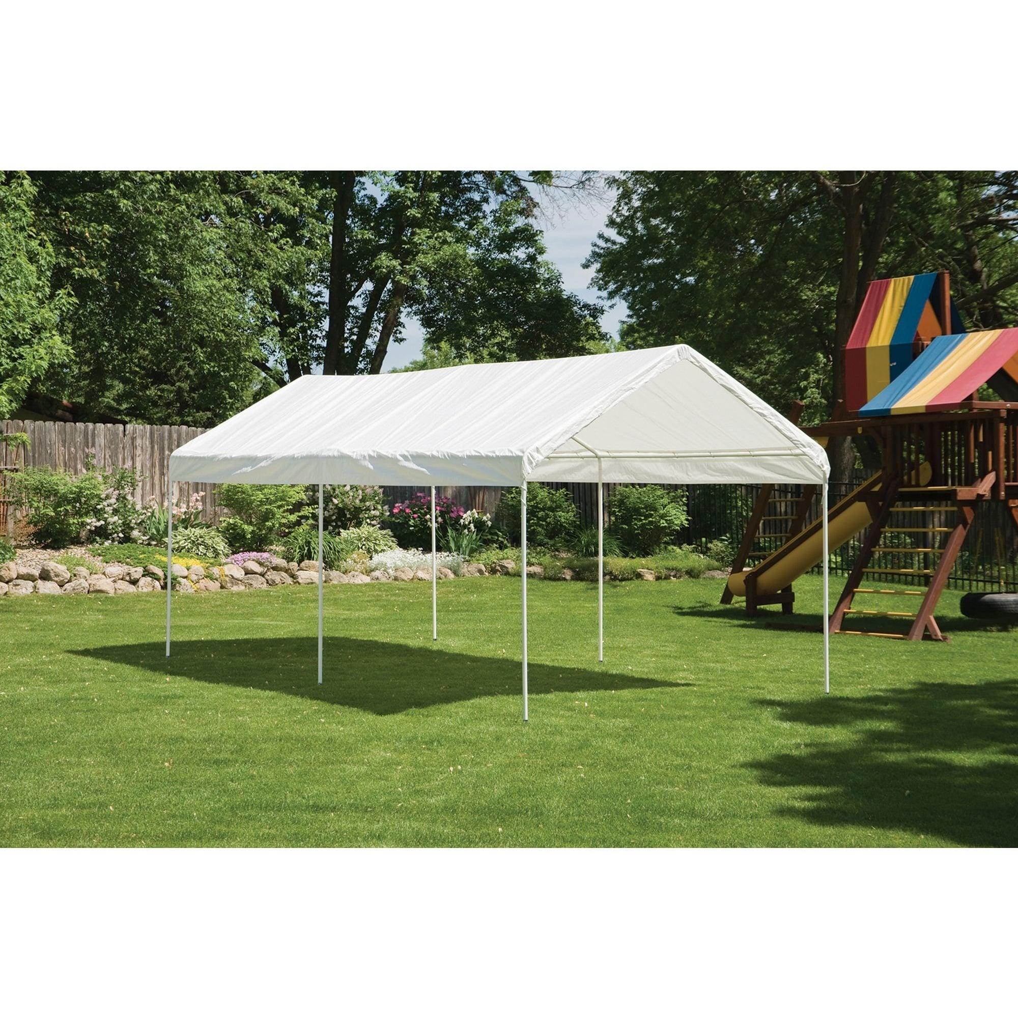 ShelterLogic White Cover 10' x 20' 6-leg Frame Canopy - Free ... on