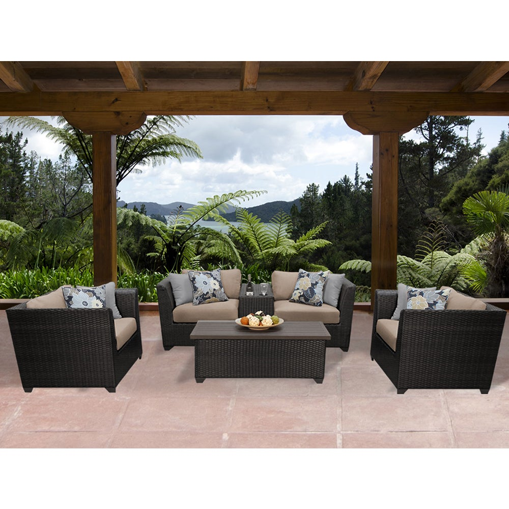 Shop Barbados 6 Piece Outdoor Wicker Patio Furniture Set 06d - Free  Shipping Today - Overstock.com - 15279074 - Shop Barbados 6 Piece Outdoor Wicker Patio Furniture Set 06d - Free