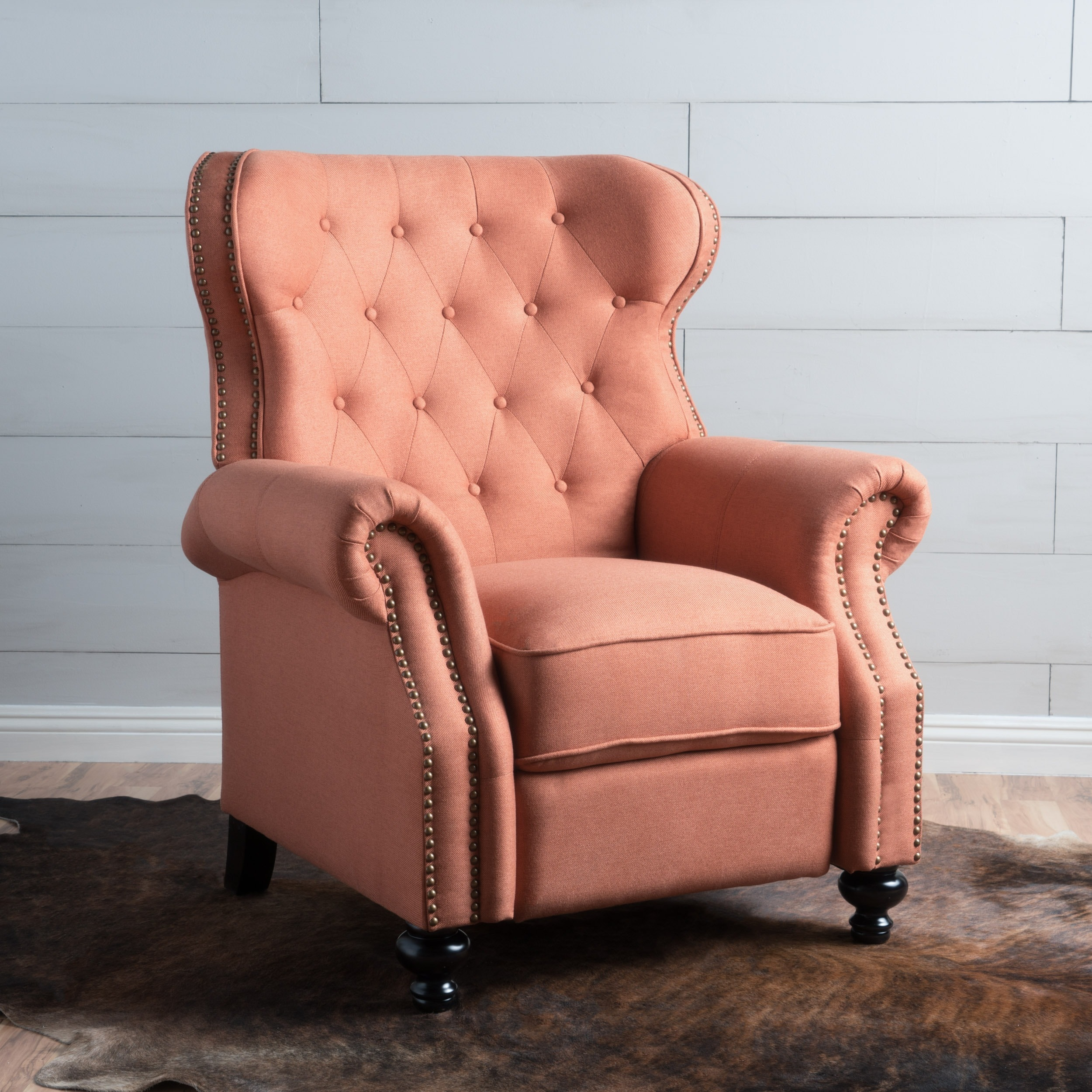 Walder Tufted Fabric Recliner Club Chair By Christopher Knight Home On Free Shipping Today 15279317