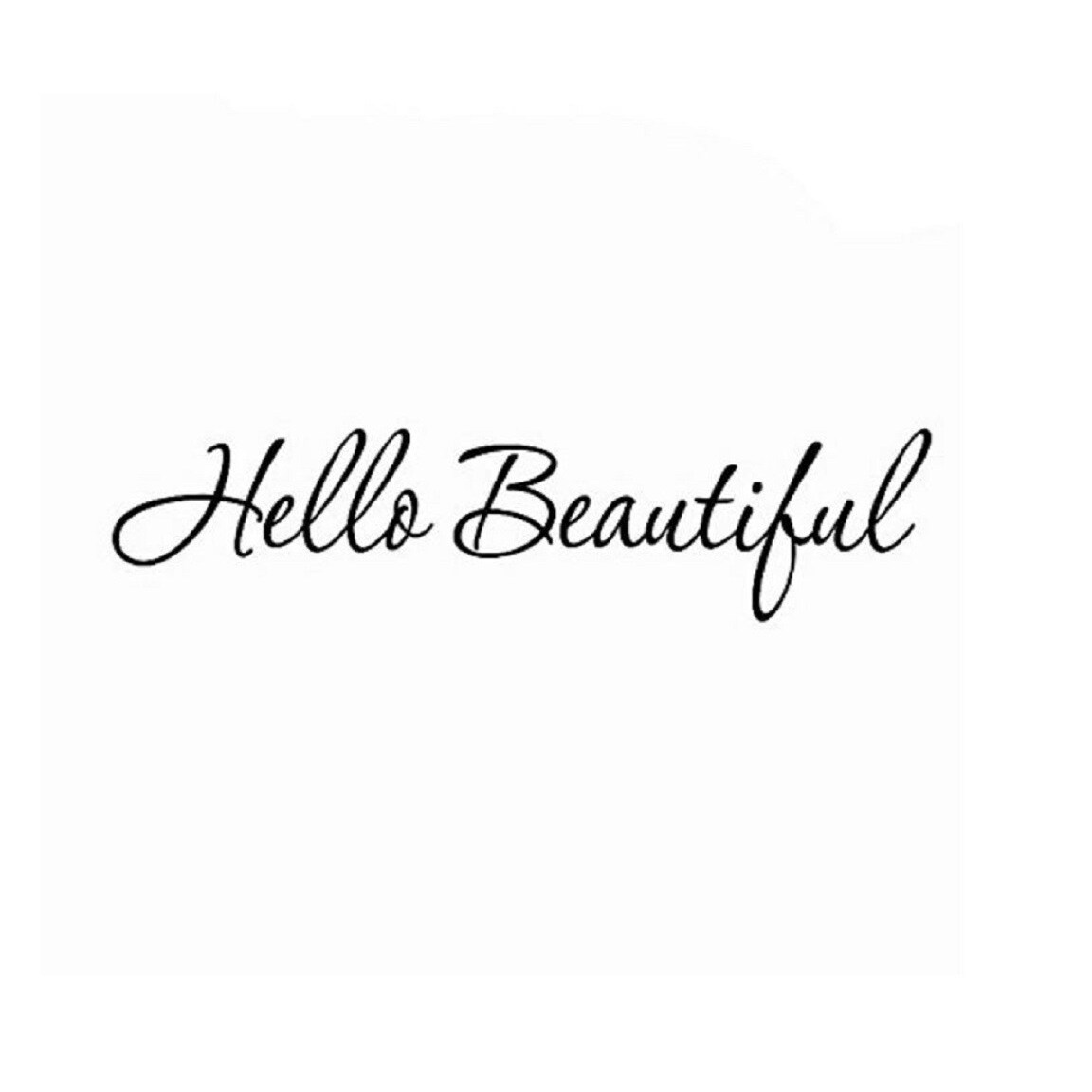 Shop Hello Beautiful Wall Decal Inspirational Quotes 30w X 8h