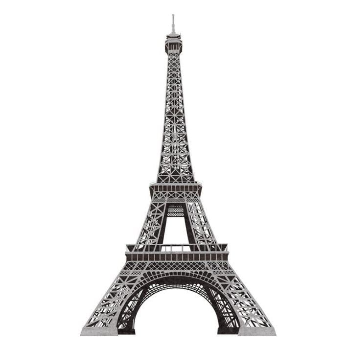 shop paris eiffel tower peel and stick giant wall decal - free