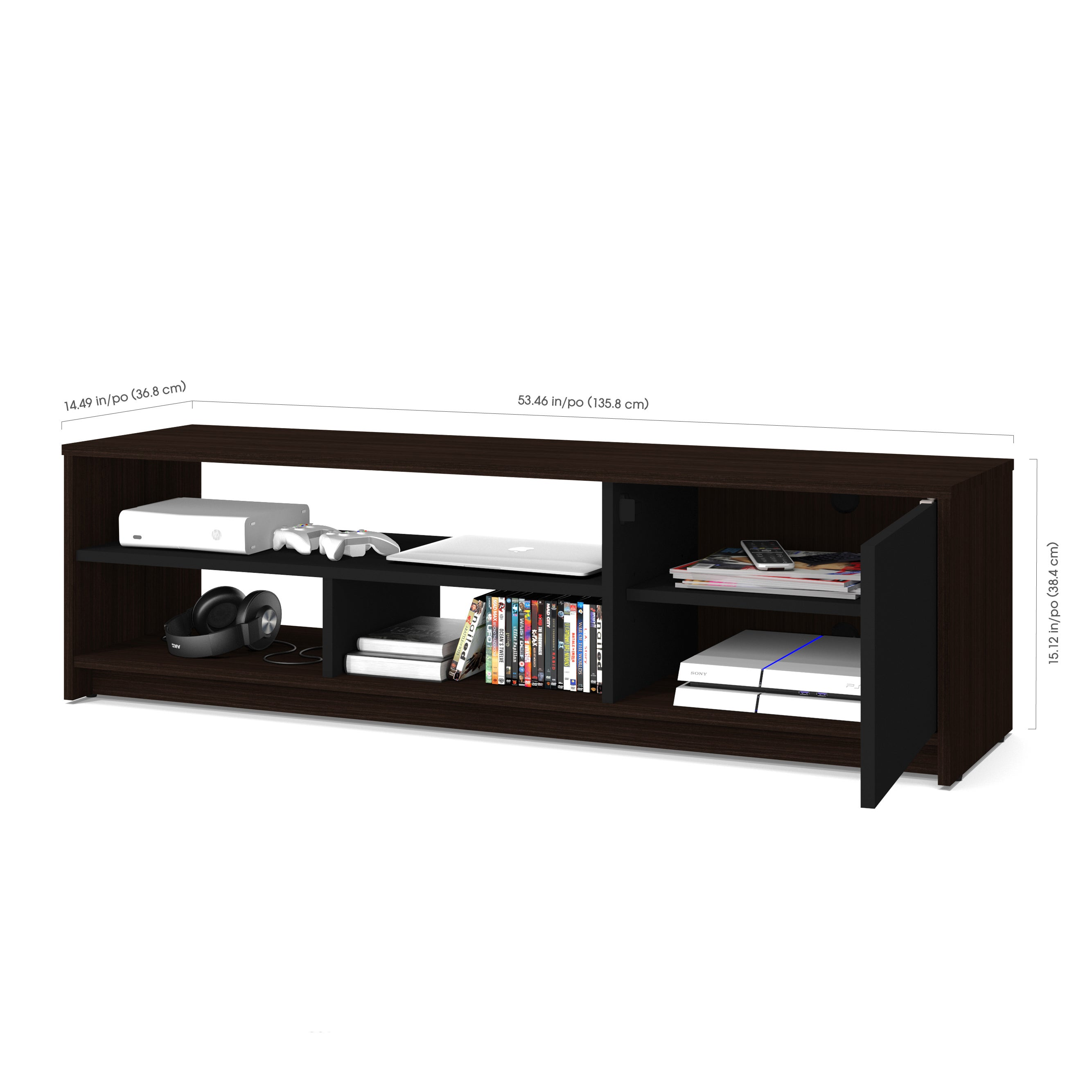 Bestar Small Space 53 5 inch TV Stand Free Shipping Today