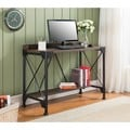 K and B Furniture Co Antique-finish Metal and Walnut Wood Desk
