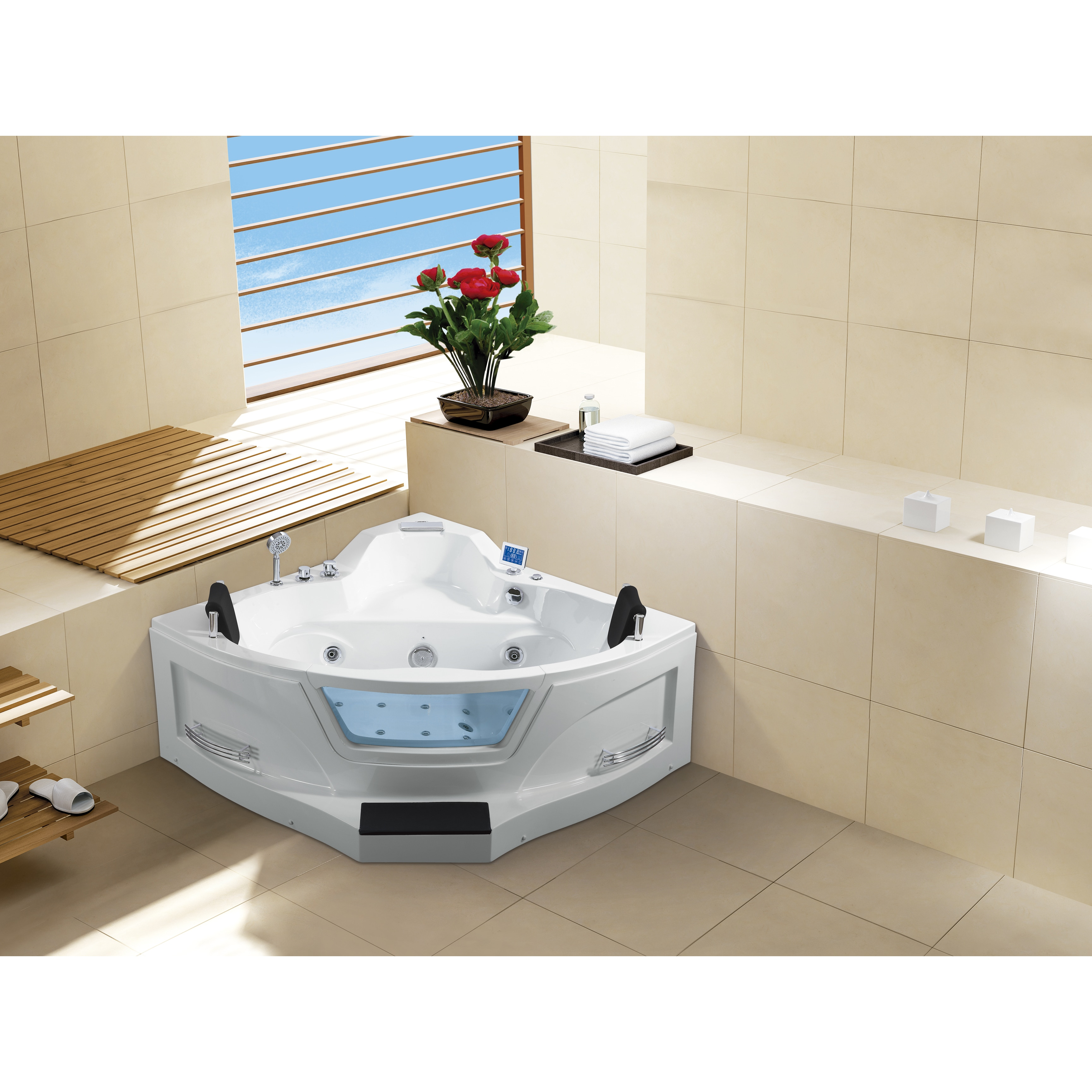 Ariel ARL-084 Two Person Whirlpool Bathtub - Free Shipping Today ...