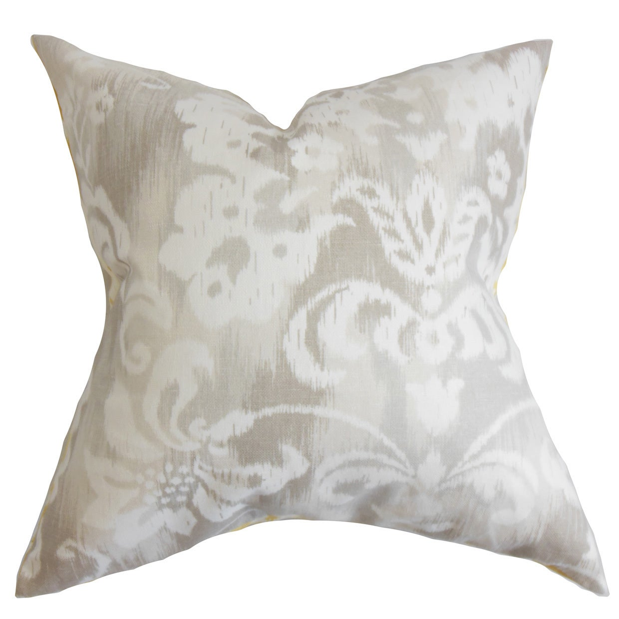 Shop ashira floral 24 inch down feather throw pillow neutral free shipping today overstock com 15284734
