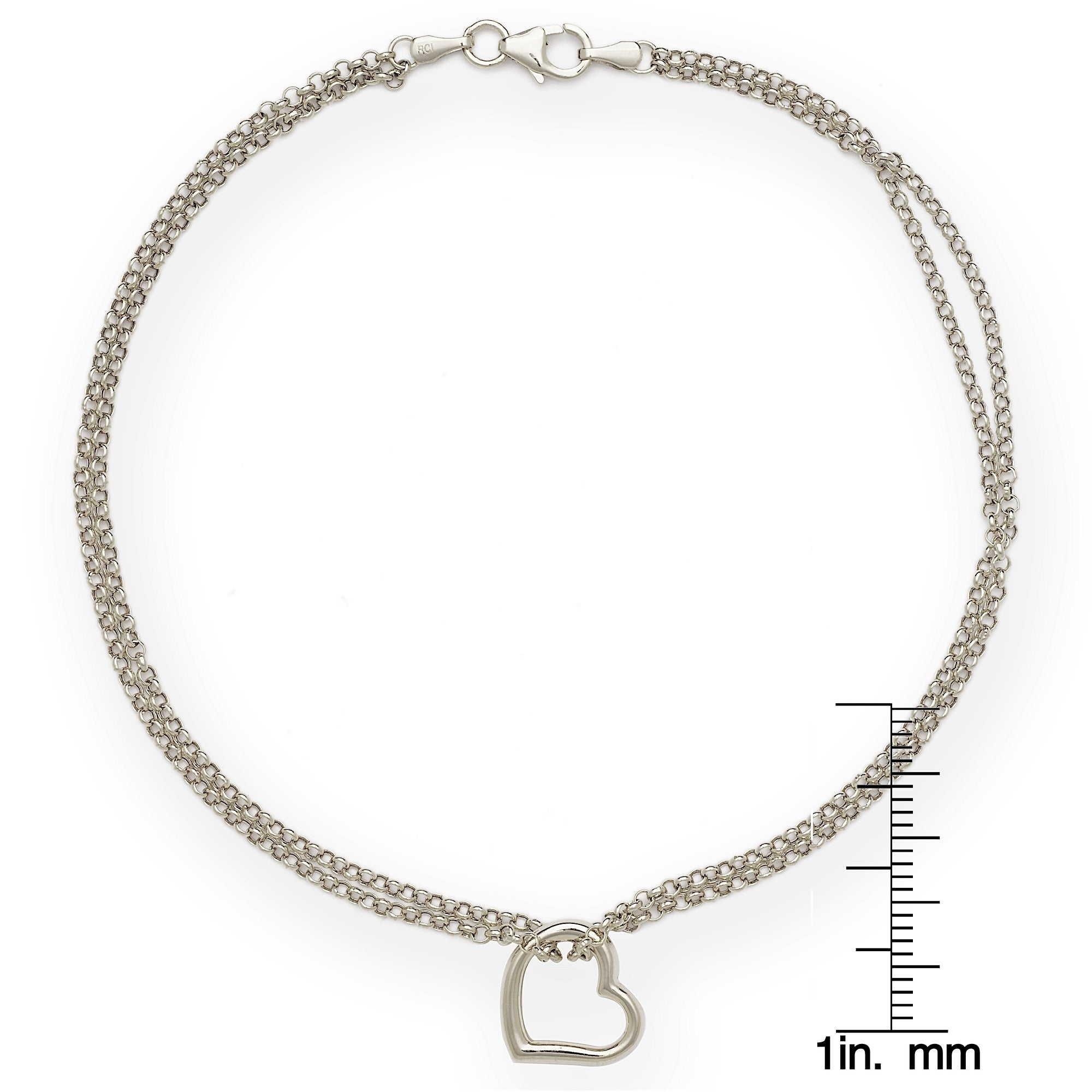 chain gold anklet bracelet solid rdcl c and diamond itm rope cut p fine