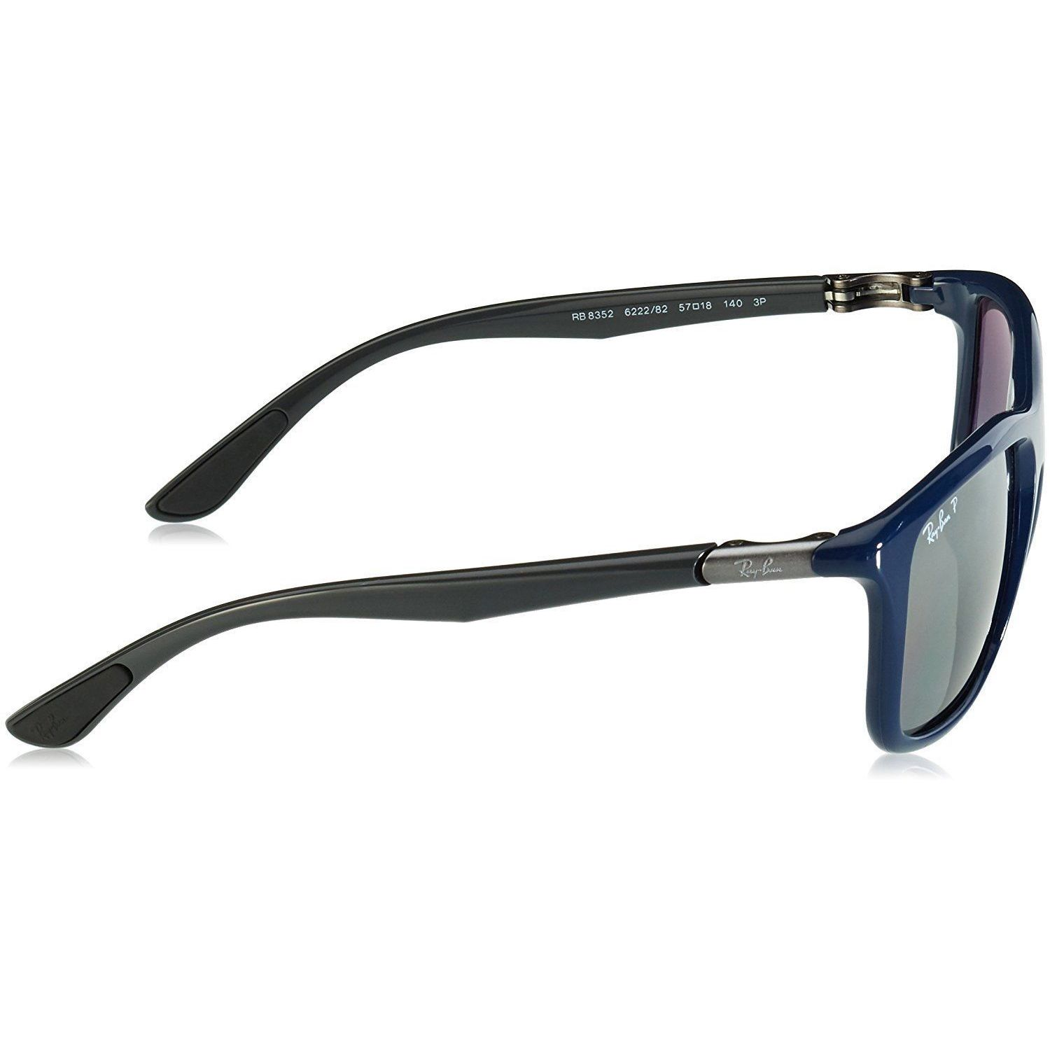 4cde621c72 Shop Ray-Ban RB8352 622282 Men s Blue Grey Frame Polarized Silver Mirror Lens  Sunglasses - Free Shipping Today - Overstock - 15287082