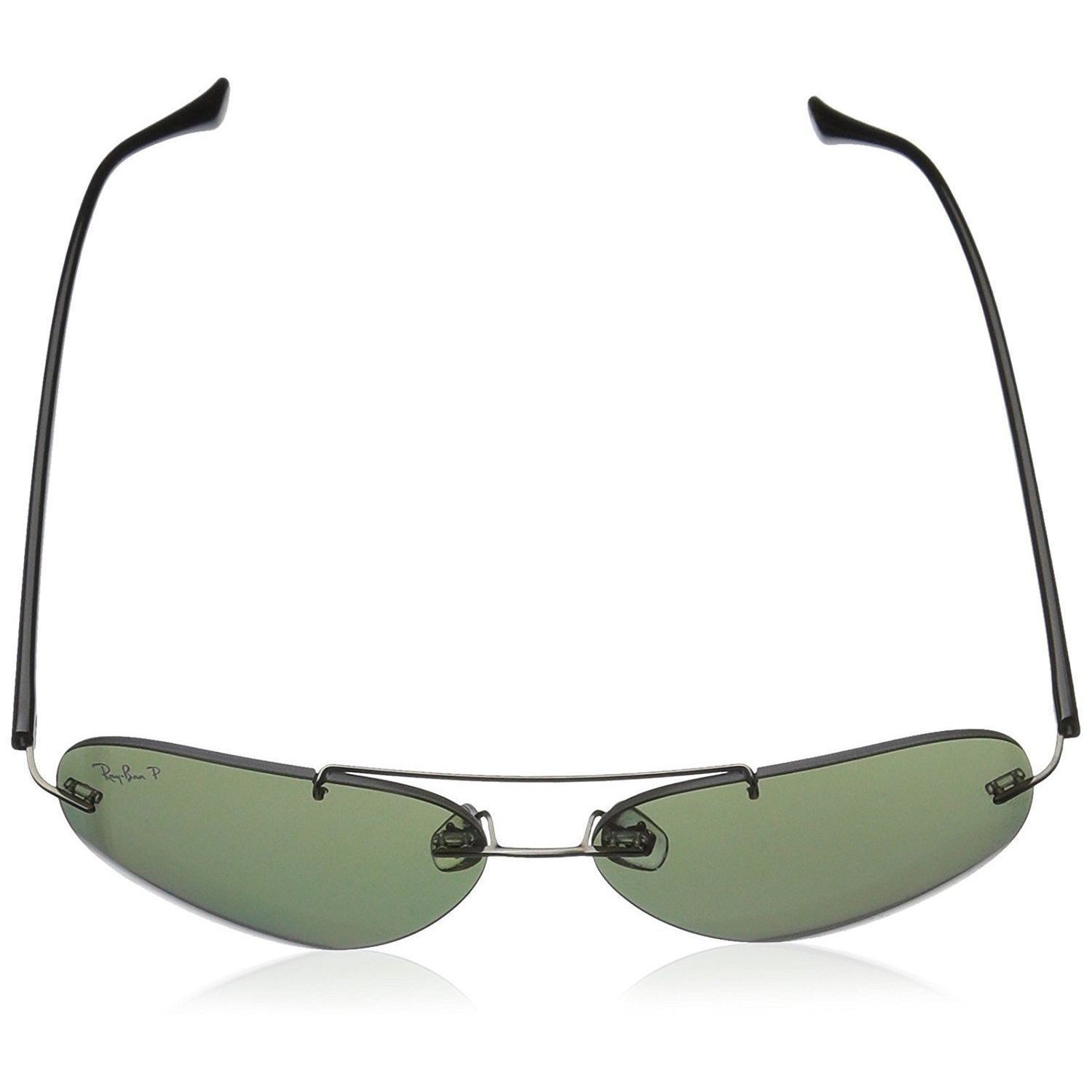d30f1c3ceec Shop Ray-Ban RB8058 004 9A Men s Rimless Rimless Polarized Green Lens  Sunglasses - Free Shipping Today - Overstock - 15287145