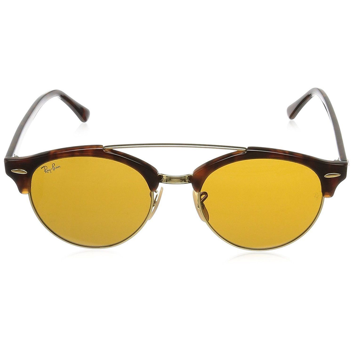 2c1233b229 Shop Ray-Ban Clubround Double Bridge RB4346 Men s Tortoise Frame Brown Lens  Sunglasses - Free Shipping Today - Overstock - 15287220